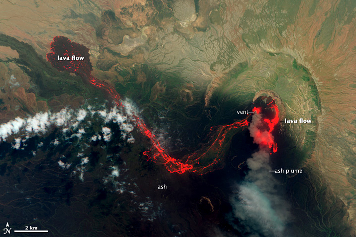 Satellite view of the Nabro volcano in Eritrea (CLICK TO VIEW LARGER)