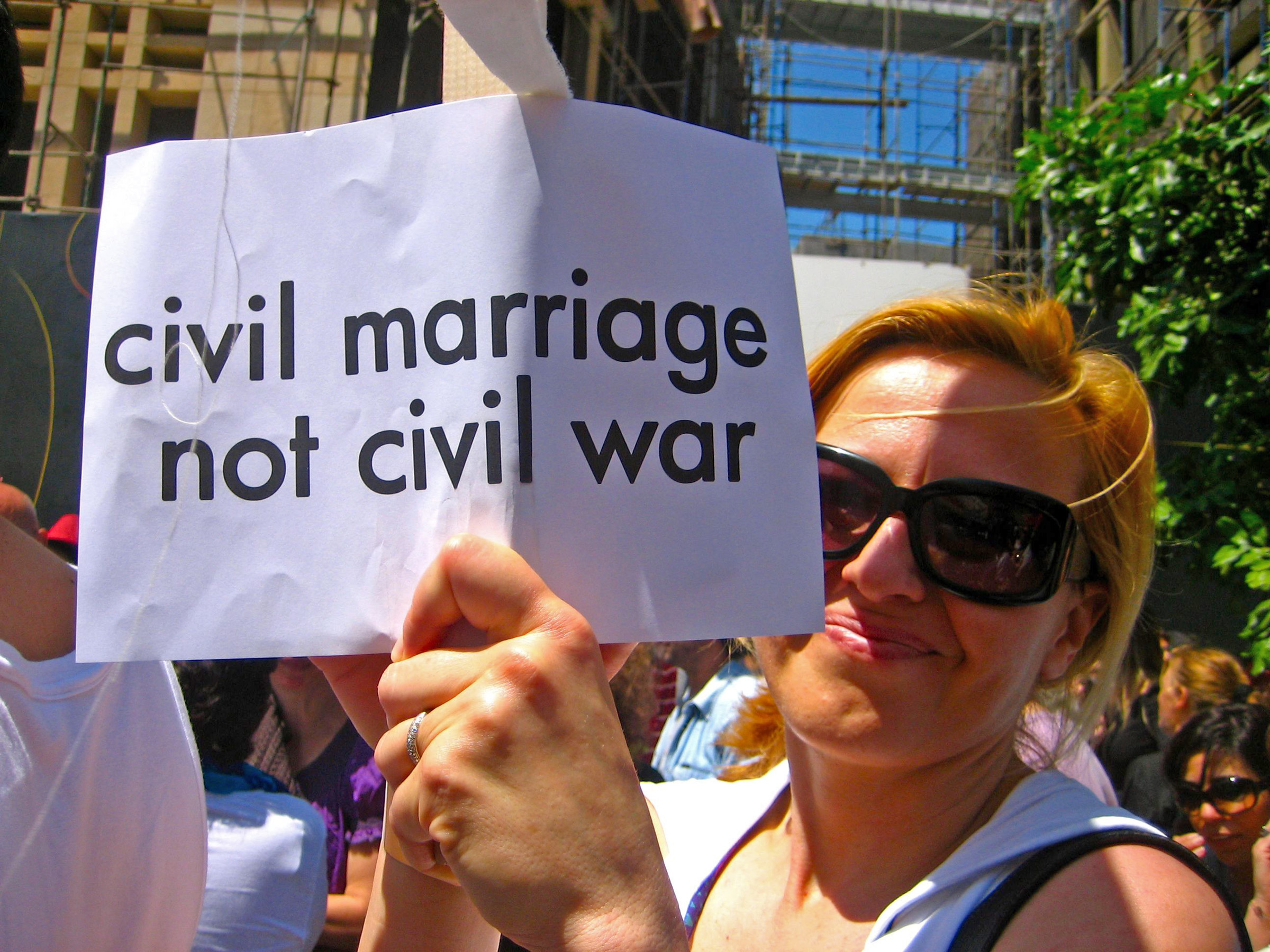 Demonstrating for equal citizenship and equal rights for men and women in Beirut, Lebanon