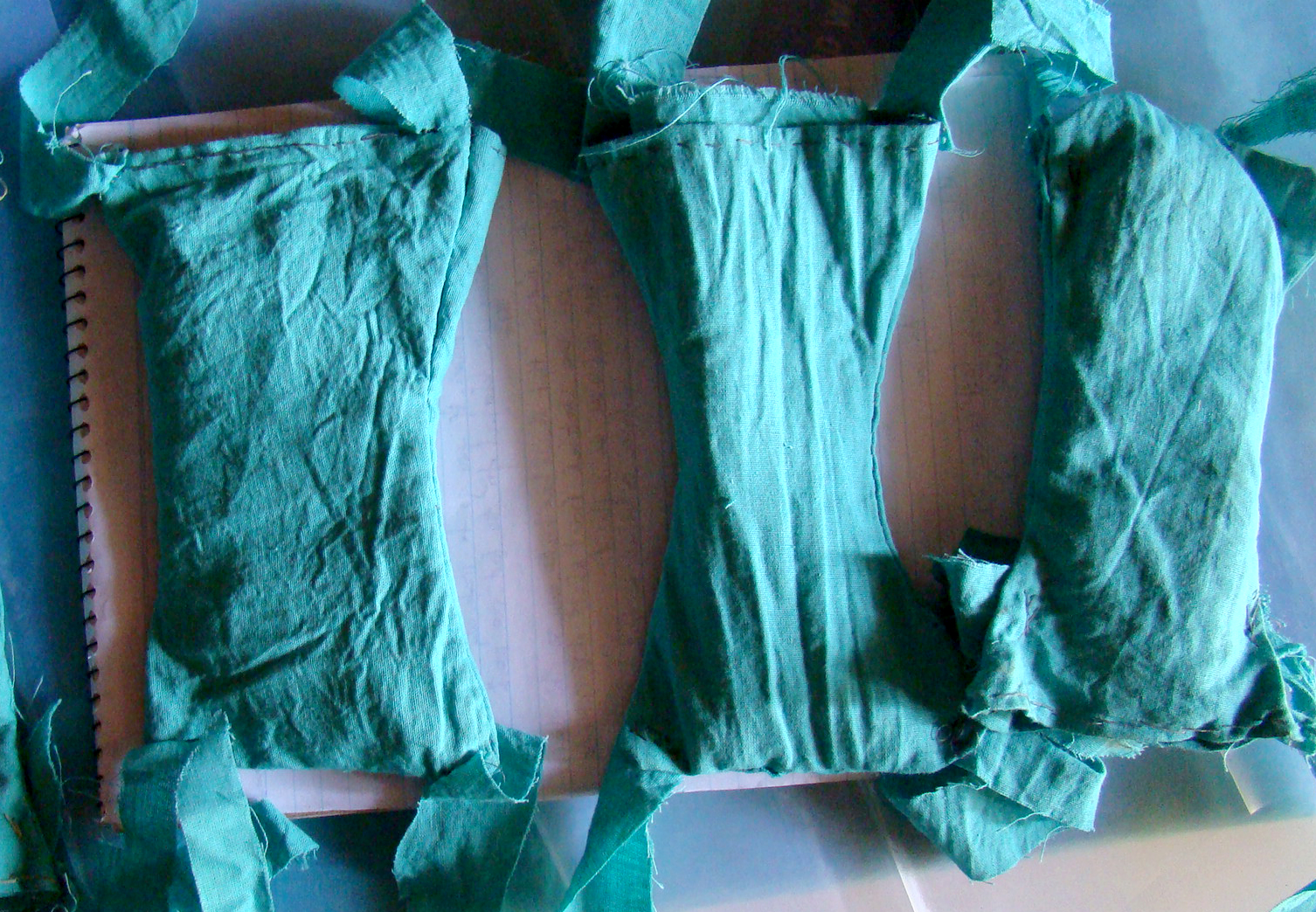 Sanitary pads made using local materials in Uganda