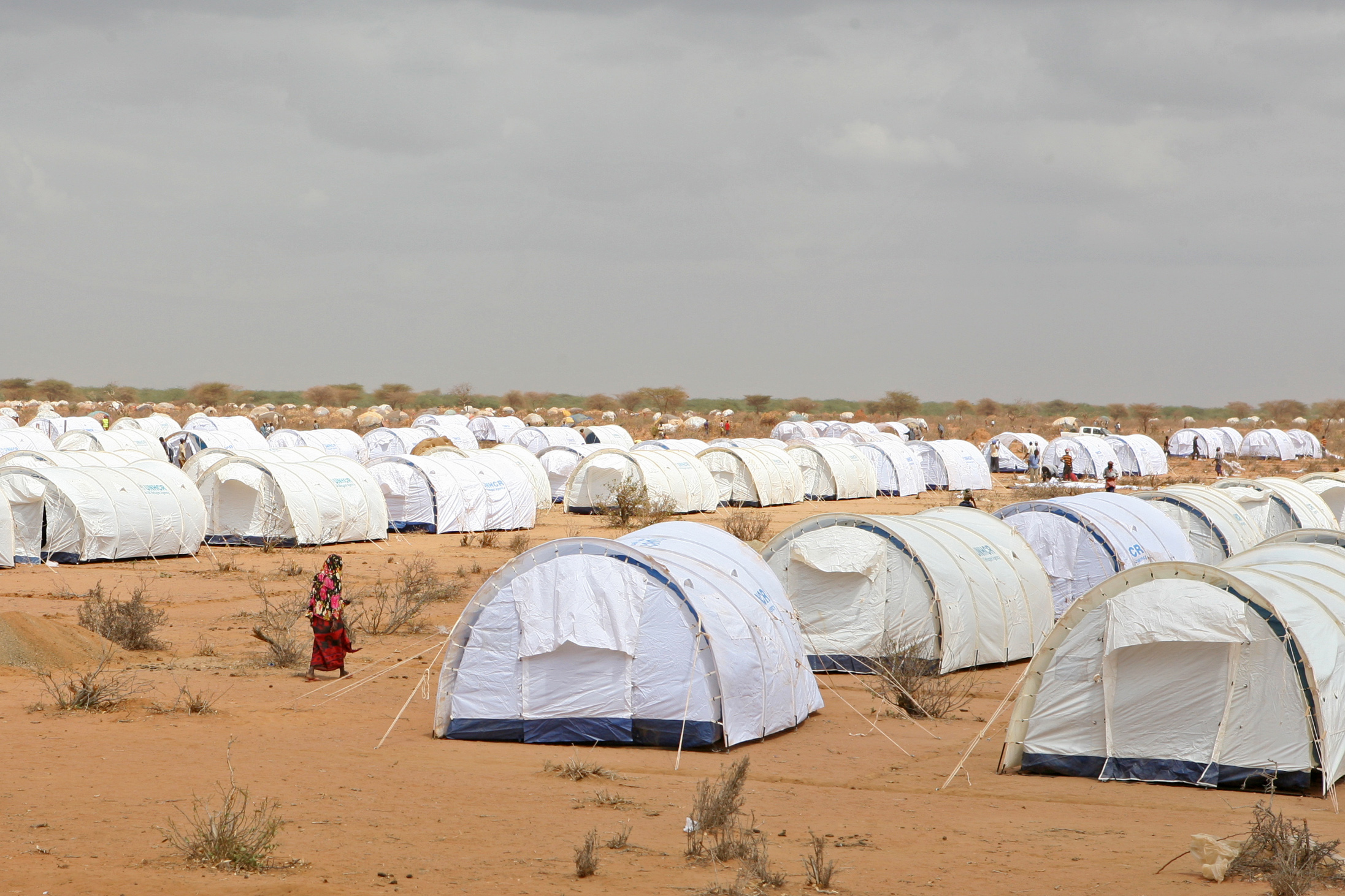 New tents at the Ifo 3 camp, Dadaab, eastern Kenya
