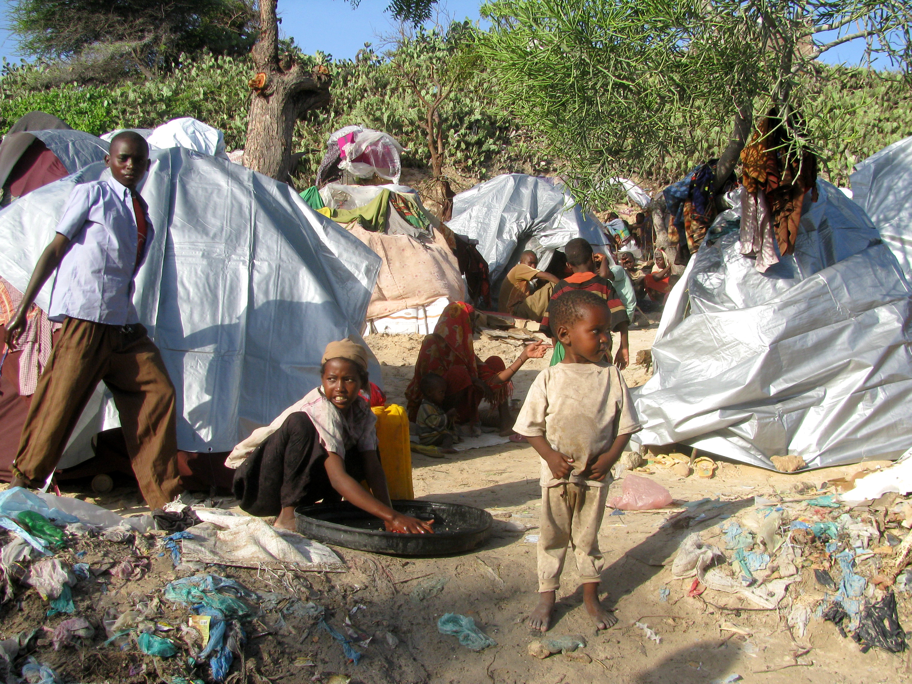 An IDP family in Waberi district, Mogadishu