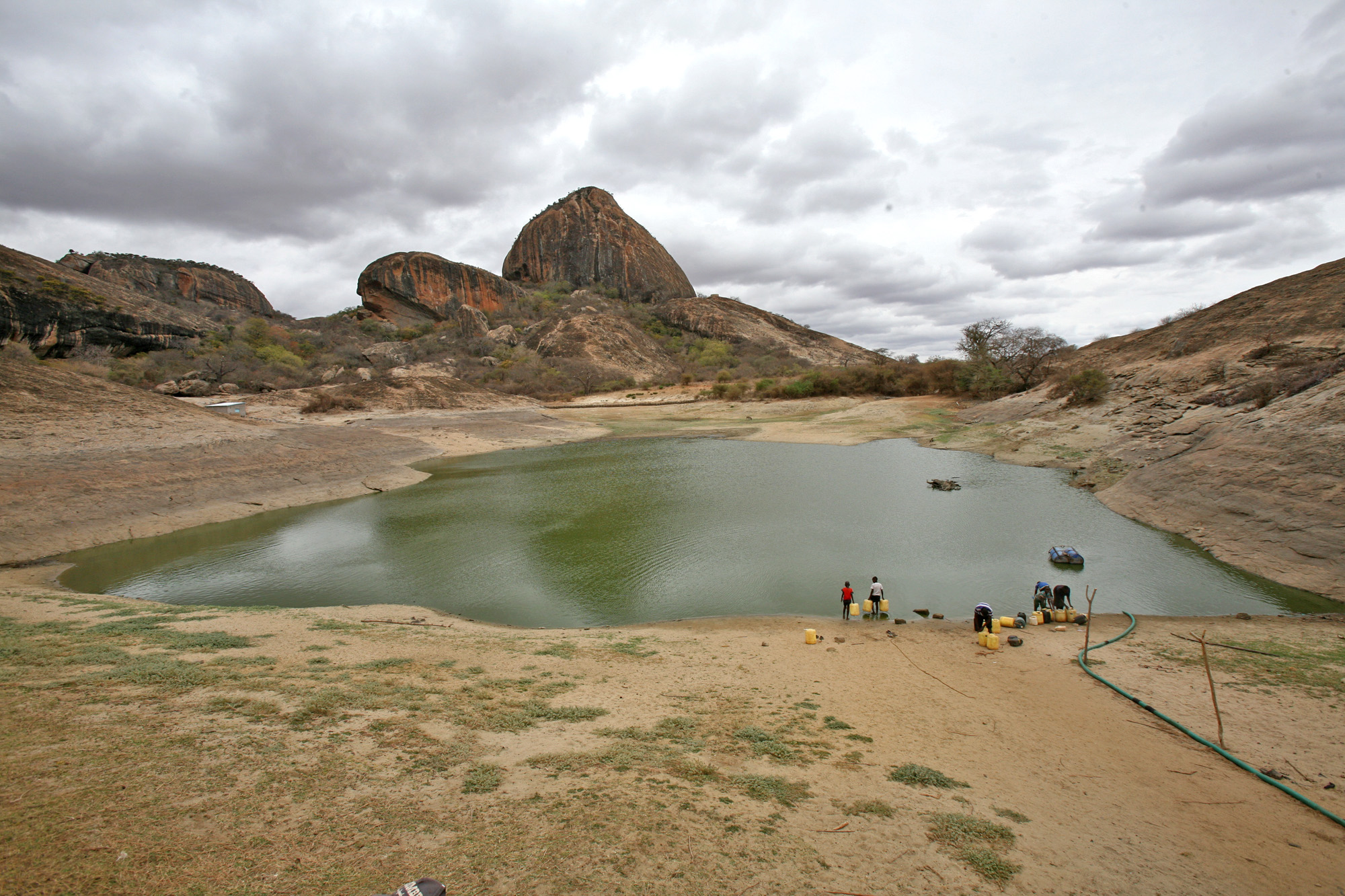 The Ngomeni rock water catchment dam in Mwingi district, Kenya, which serves hundreds of households is drying up for the first time in years, according to residents