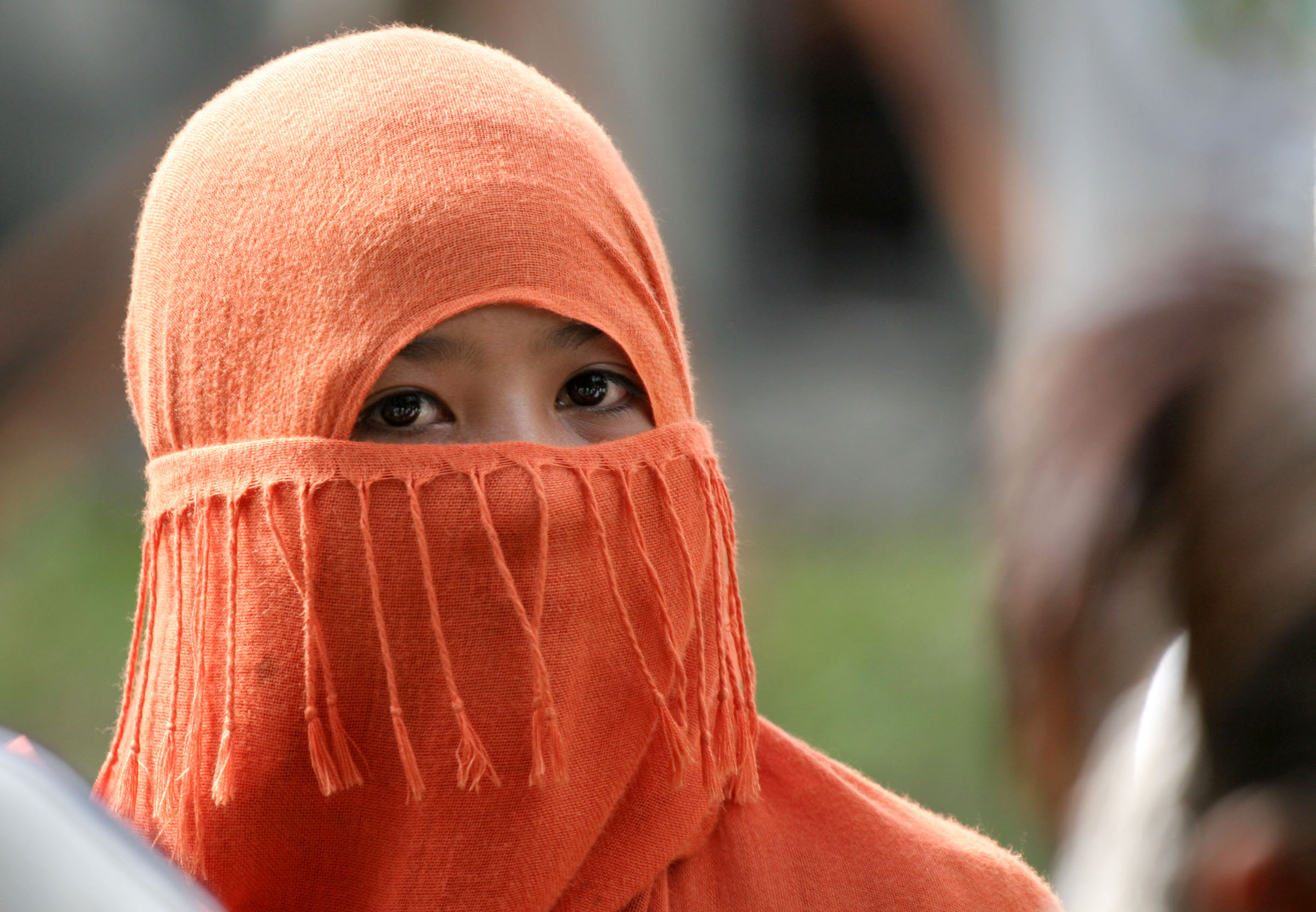 A young Muslim girl in the southern Philippines near a Muslim rebel camp in southern Maguindanao province. Negotiators from the Philippines and the Moro Islamic Liberation Front (MILF) have reached a deadlock in recent peace talks in Malaysia