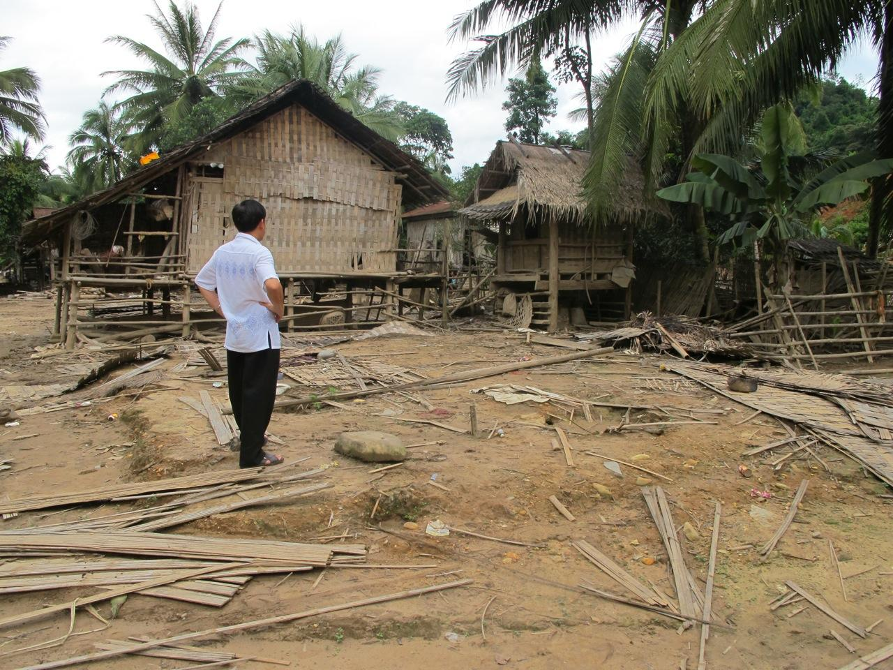 A village affected by floods in central Bolikhamxay Province in 2011