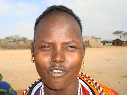 Martha Lebasale, a resident of Marsabit district in northern Kenya, who has abandoned pastoralism for hawking