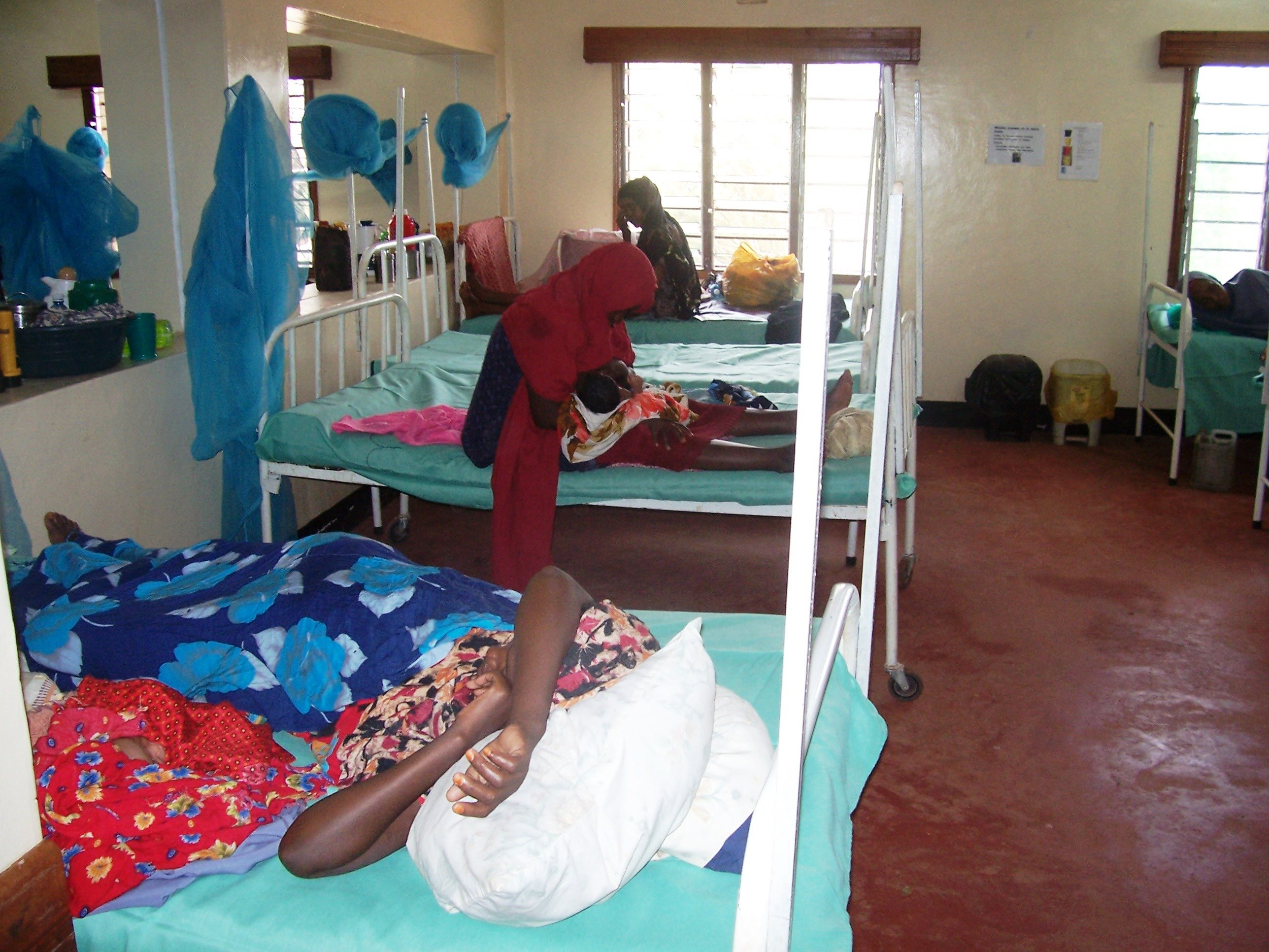 A maternity hospital in Hagadera, Dadaab Refugee camp in Kenya