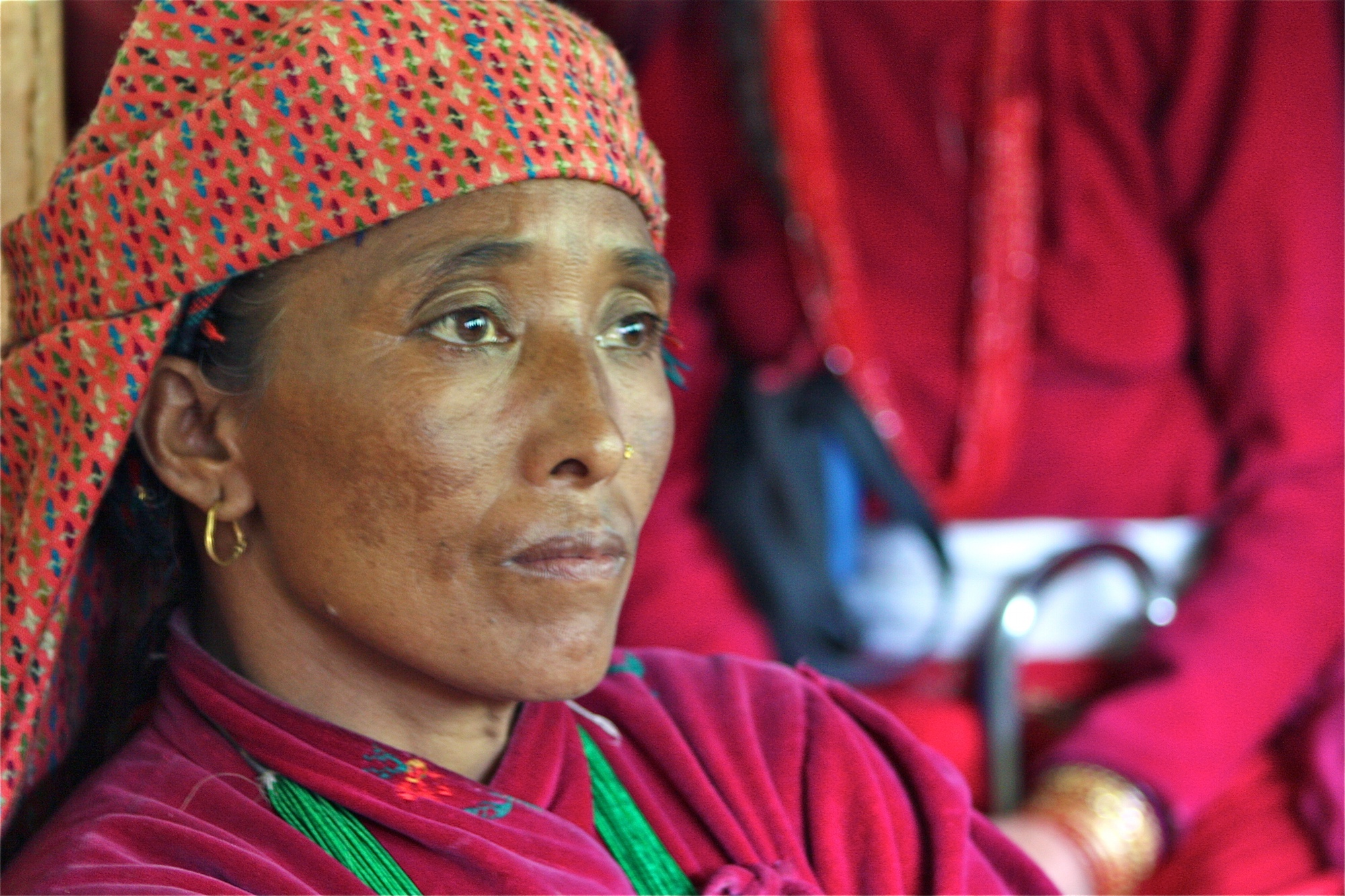 Badam Mahatara, 46 and mother-of-four, says the discrimination in her community is never ending. Women throughout rural Nepal manage household chores and heavy manual labour, working up to 18 hours a day, even throughout pregnancy
