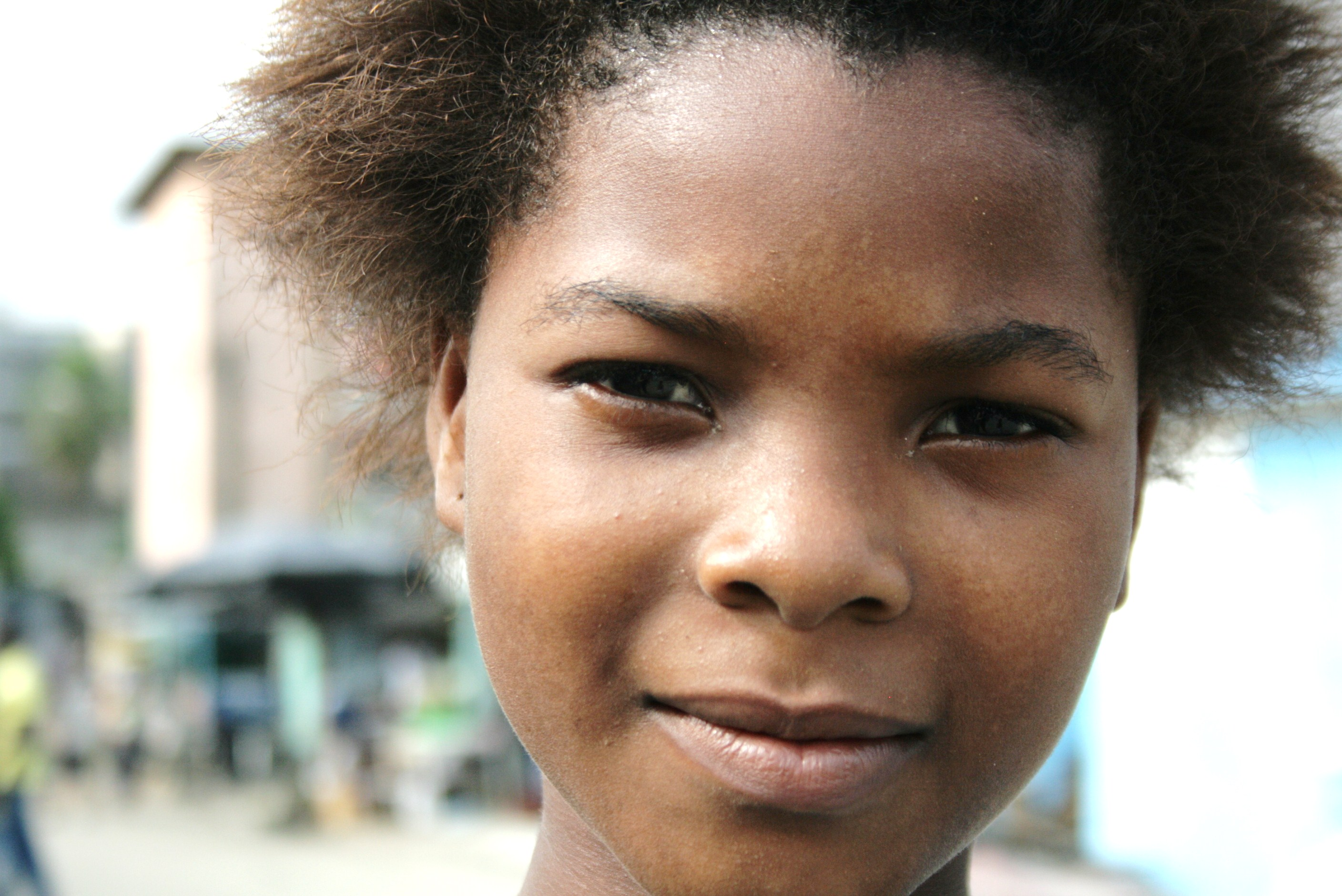 A girl in the Adjamé neighbourhood of Côte d'Ivoire's commercial capital, Abidjan. July 2011