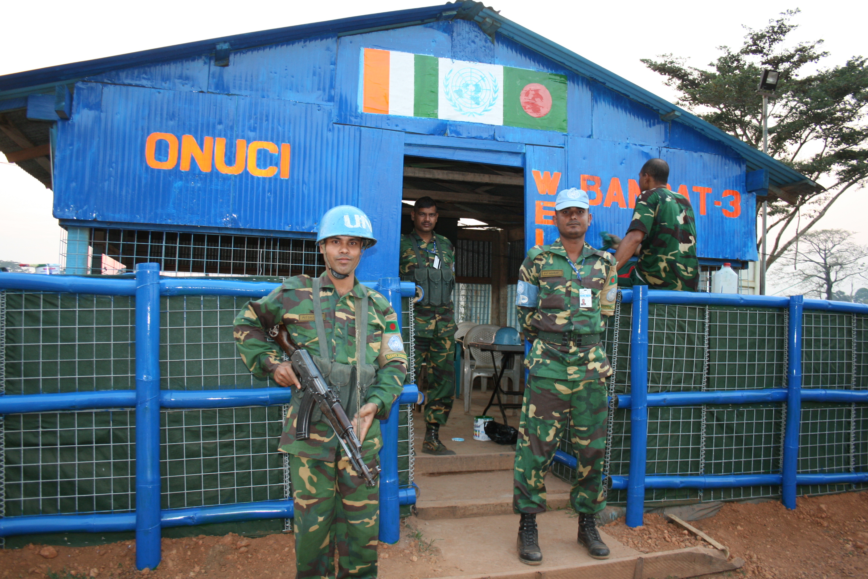 UNOCI peacekeepers in western Cote d'Ivoire