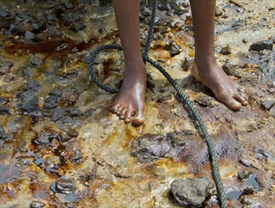 Oil spill in Ogoniland, Nigeria