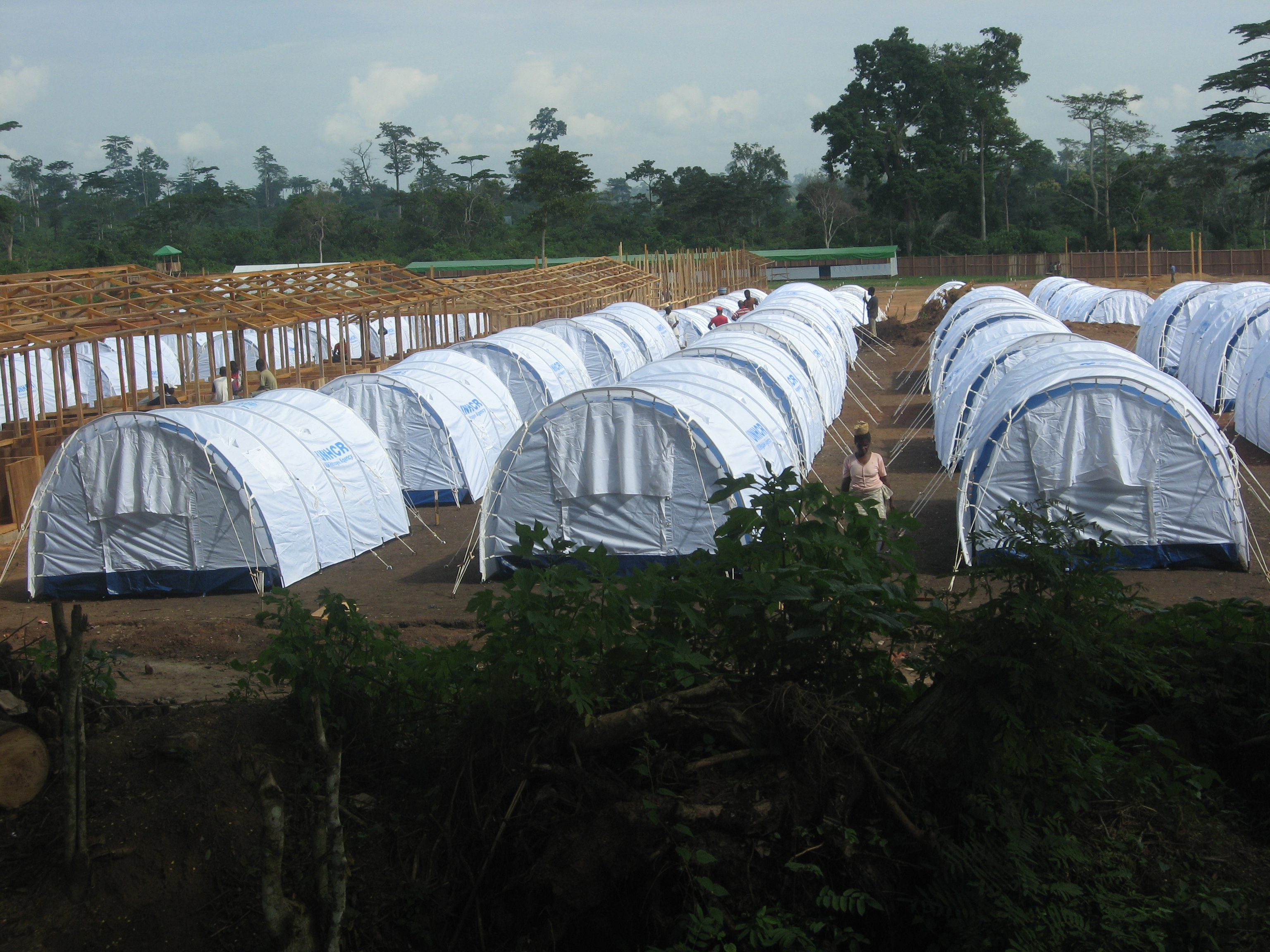 Nahibly IDP site in  Duékoué set up by UNHCR. The government threatens to close the site in several weeks
