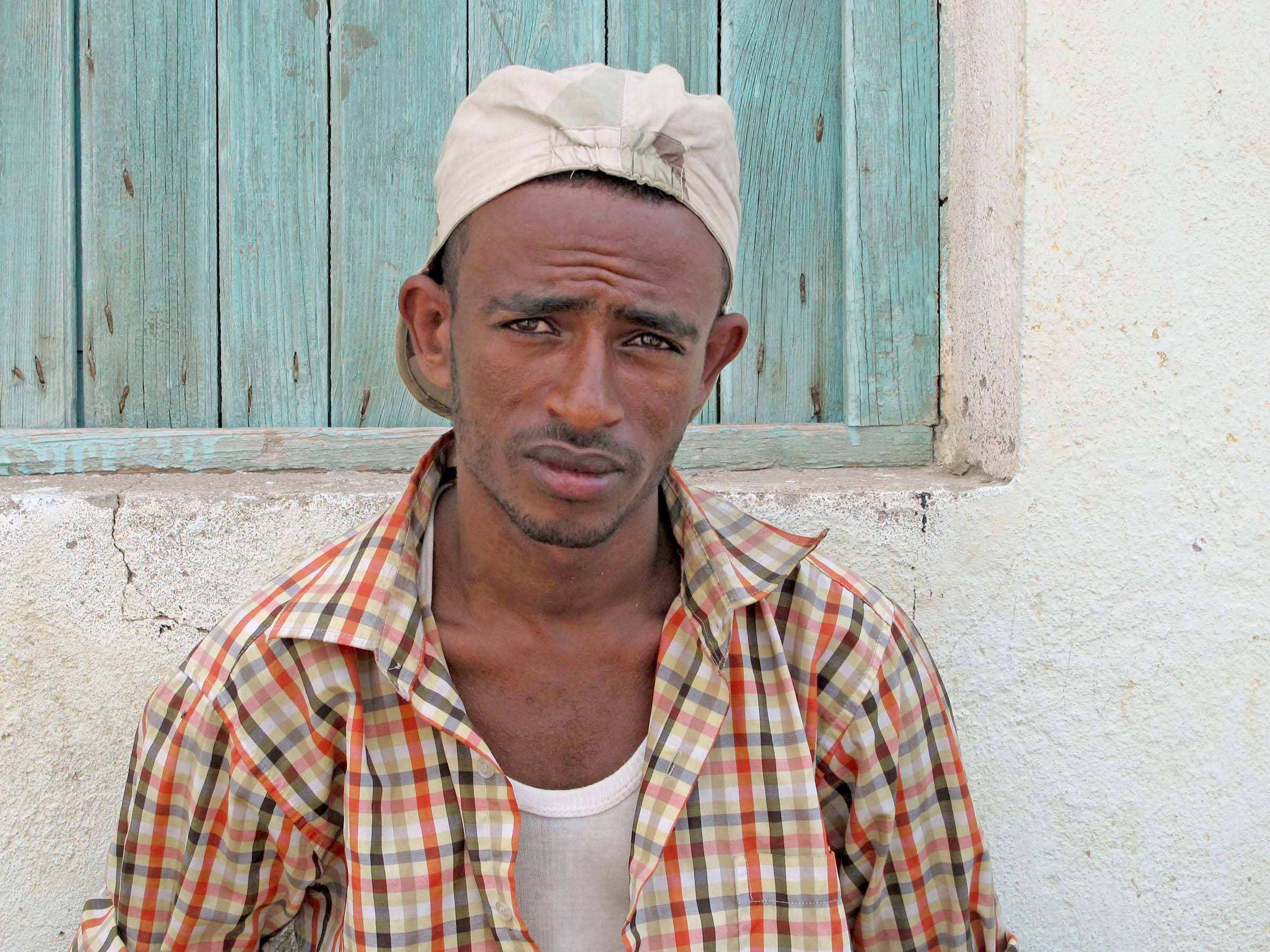 Ibsa Mohamad, a student from Ethiopia's Oromia region, paid a smuggler in Djiboutiville to organise his passage to Yemen, but now has no contact with him and no money to either continue his journey or return home