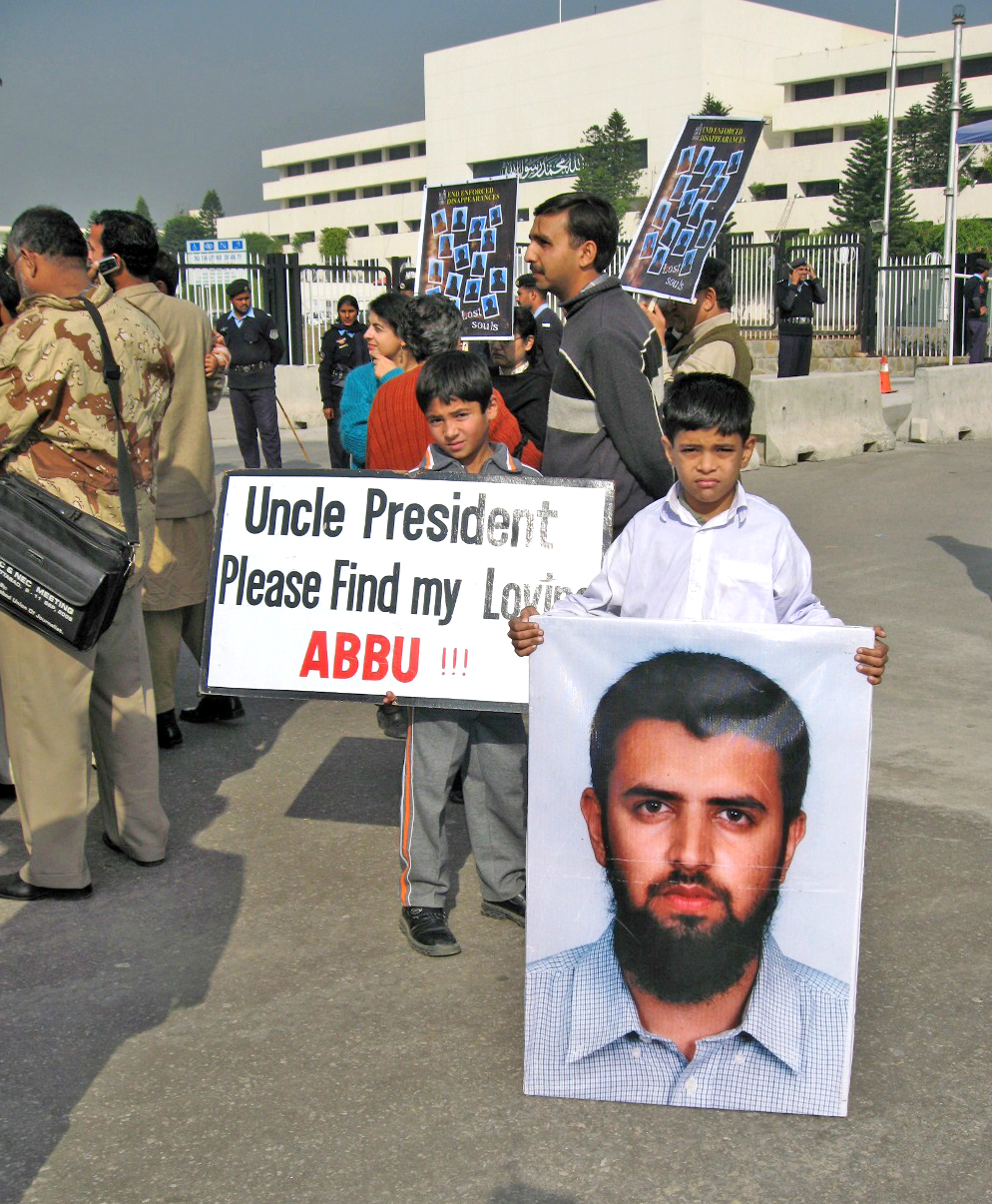 Relatives of missing persons stage a protest in Balochistan, Pakistan