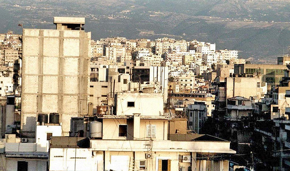 View across modern day Tripoli, Lebanon