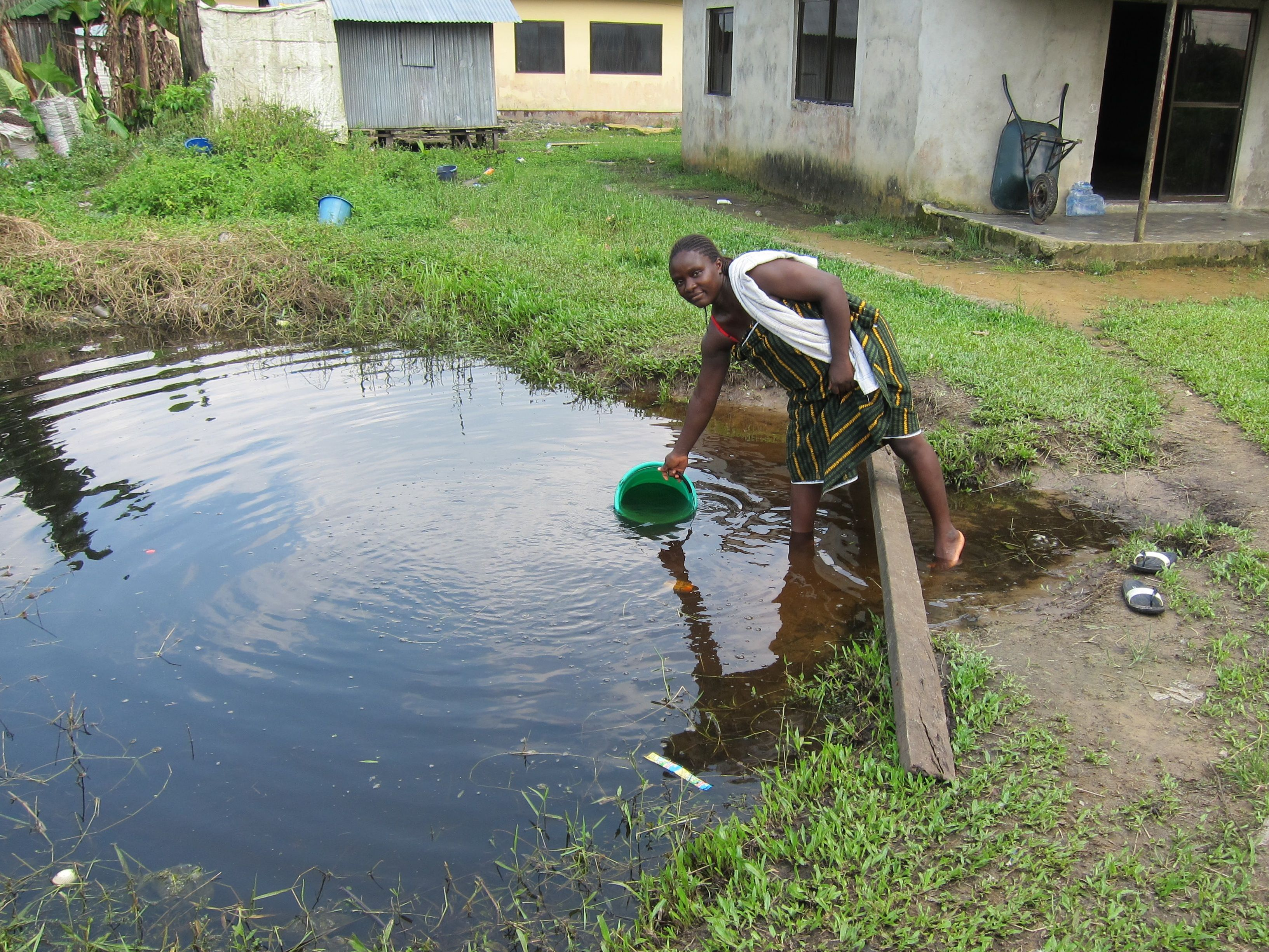 In Delta State's Oporoza community people say they still need development, including access to clean water