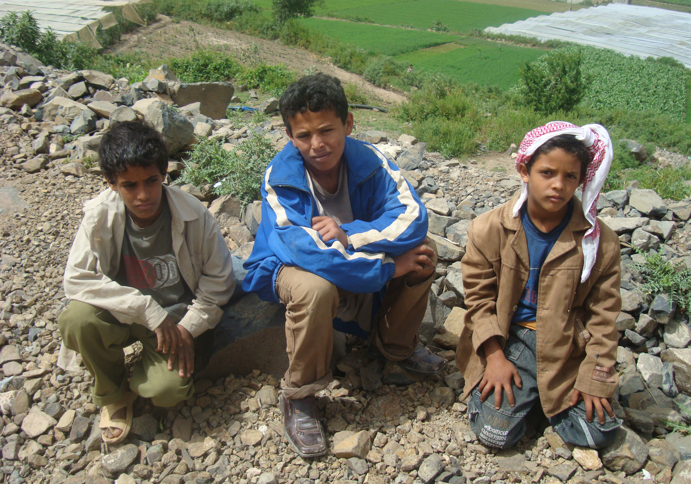 Children in Dammaj village, northern Yemen