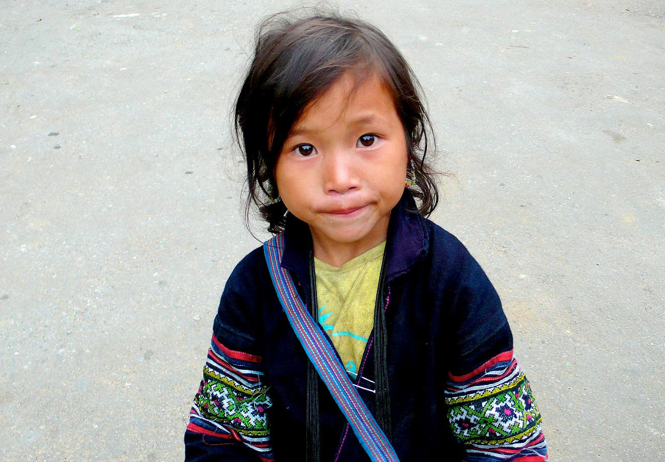 A young girl in northern Vietnam. Ethnic minorities account for 13 percent of Vietnam's population, but 44.4 percent of the country's poor