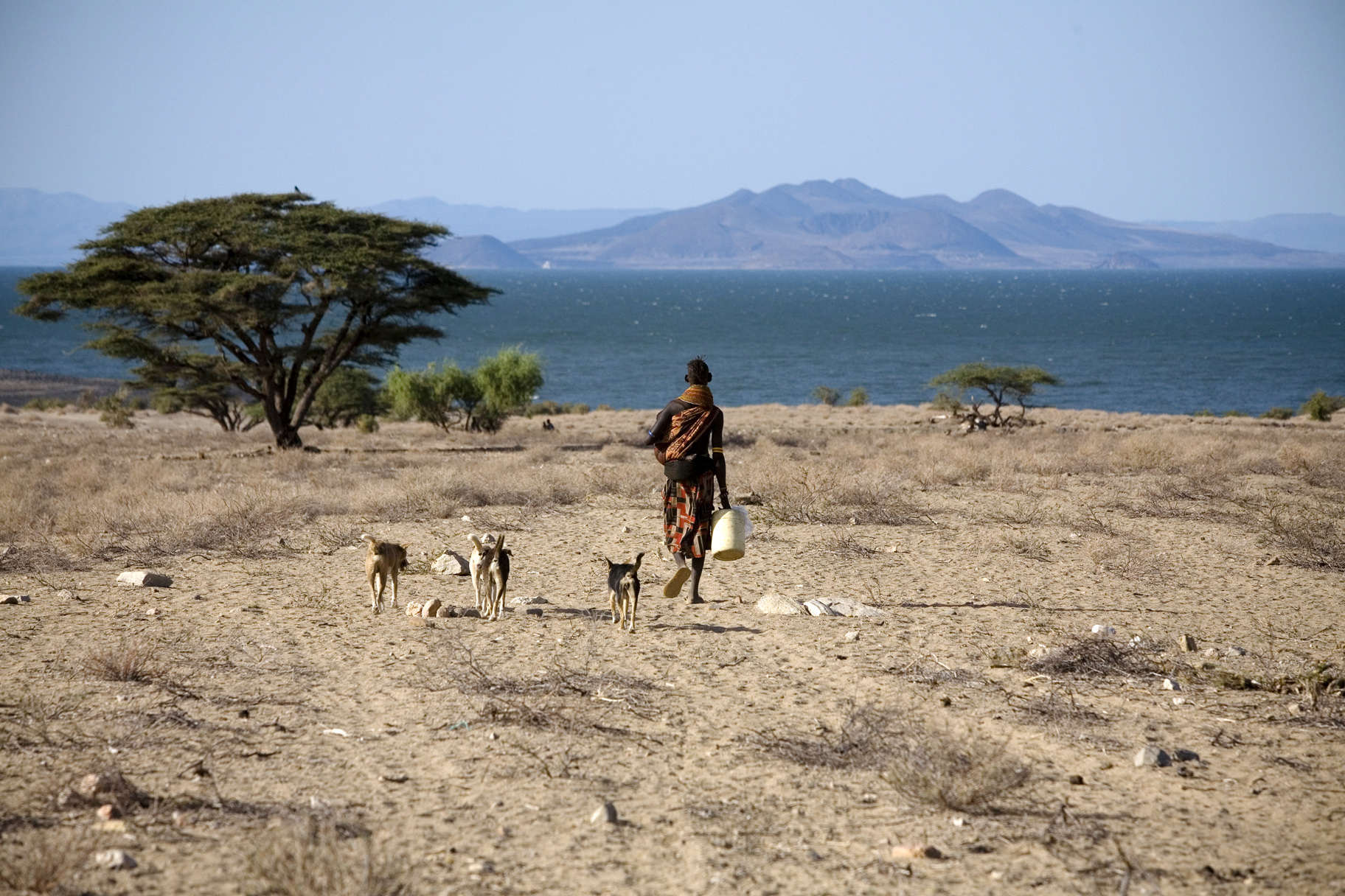The El Molo are a small fishing community found on the south-eastern side of the lake Turkana, northern Kenya