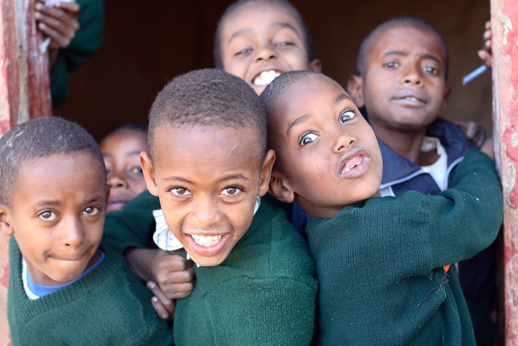 Ethiopia, young boys in a school