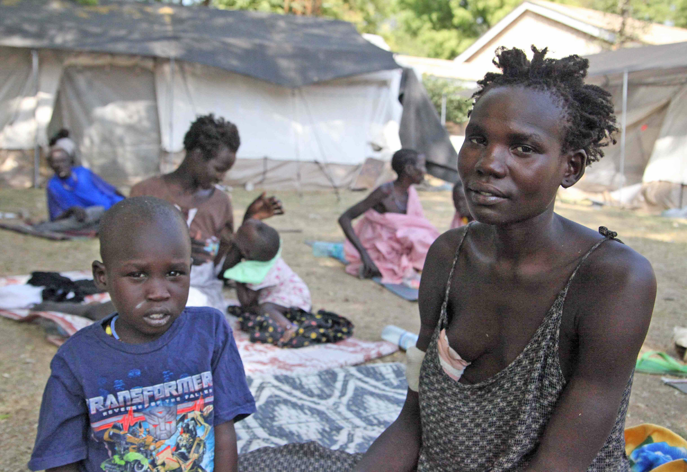 Lilkeng Gada witnessed her husband, baby and toddler shot dead while trying to flee from attackers in Pibor County, in South Sudan's Jonglei state. She and another son managed to escape to Juba, where she is being treated for a gunshot wound