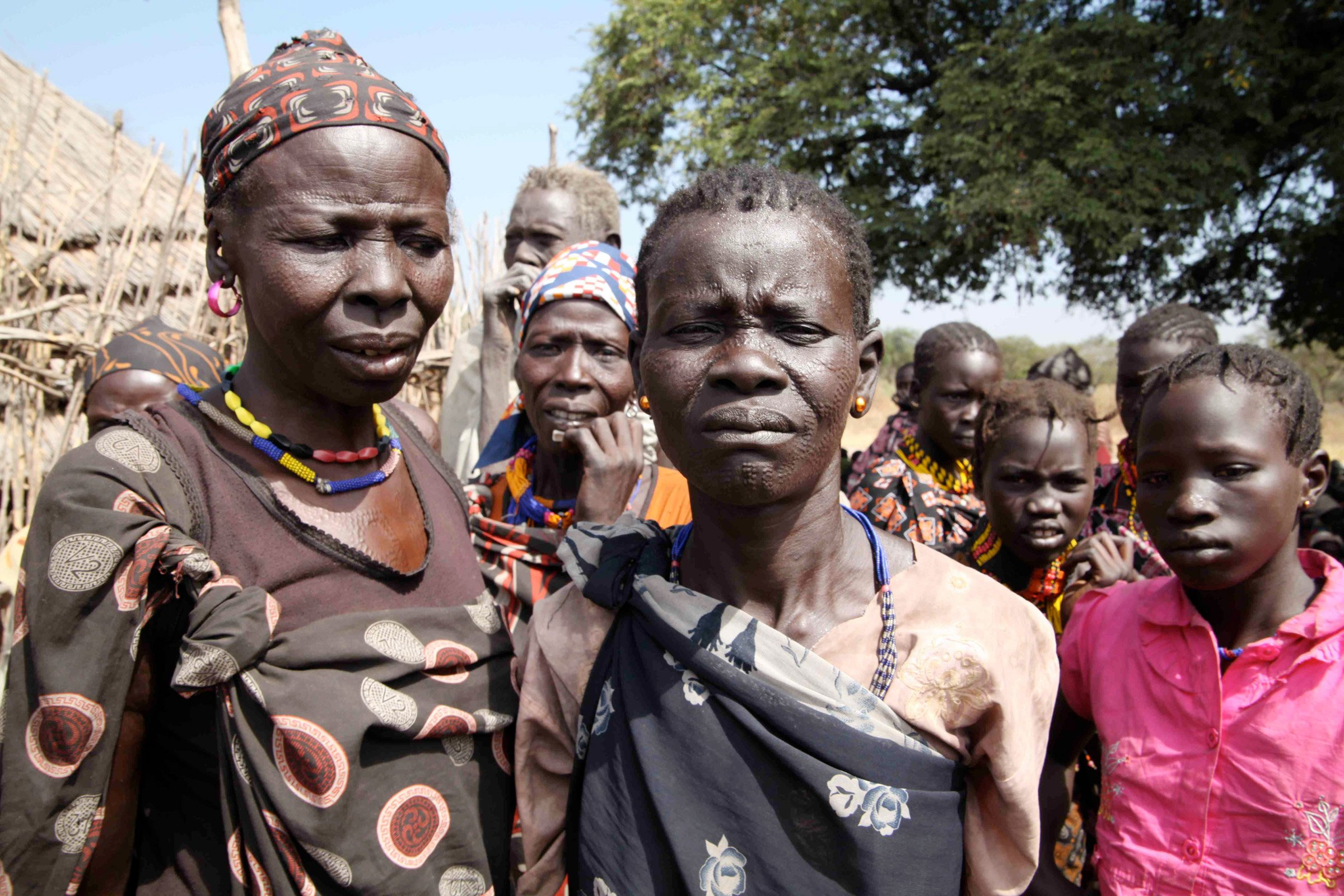 Displaced people in Gumuruk, 40km from Pibor town (Jan 2012)