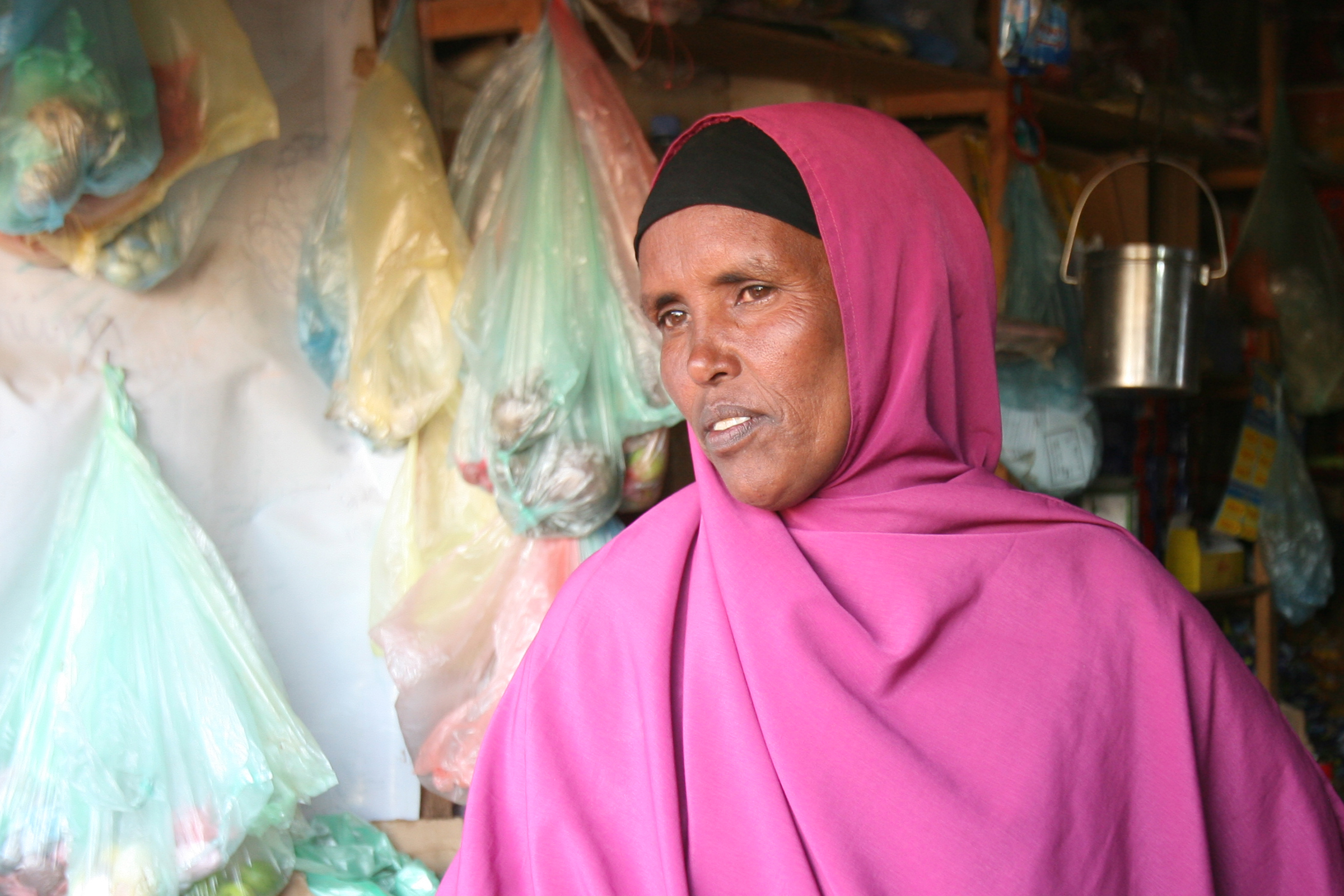 Fouzia Hassan, 50, an IDP at the stadium camp in Hargeisa, Somaliland