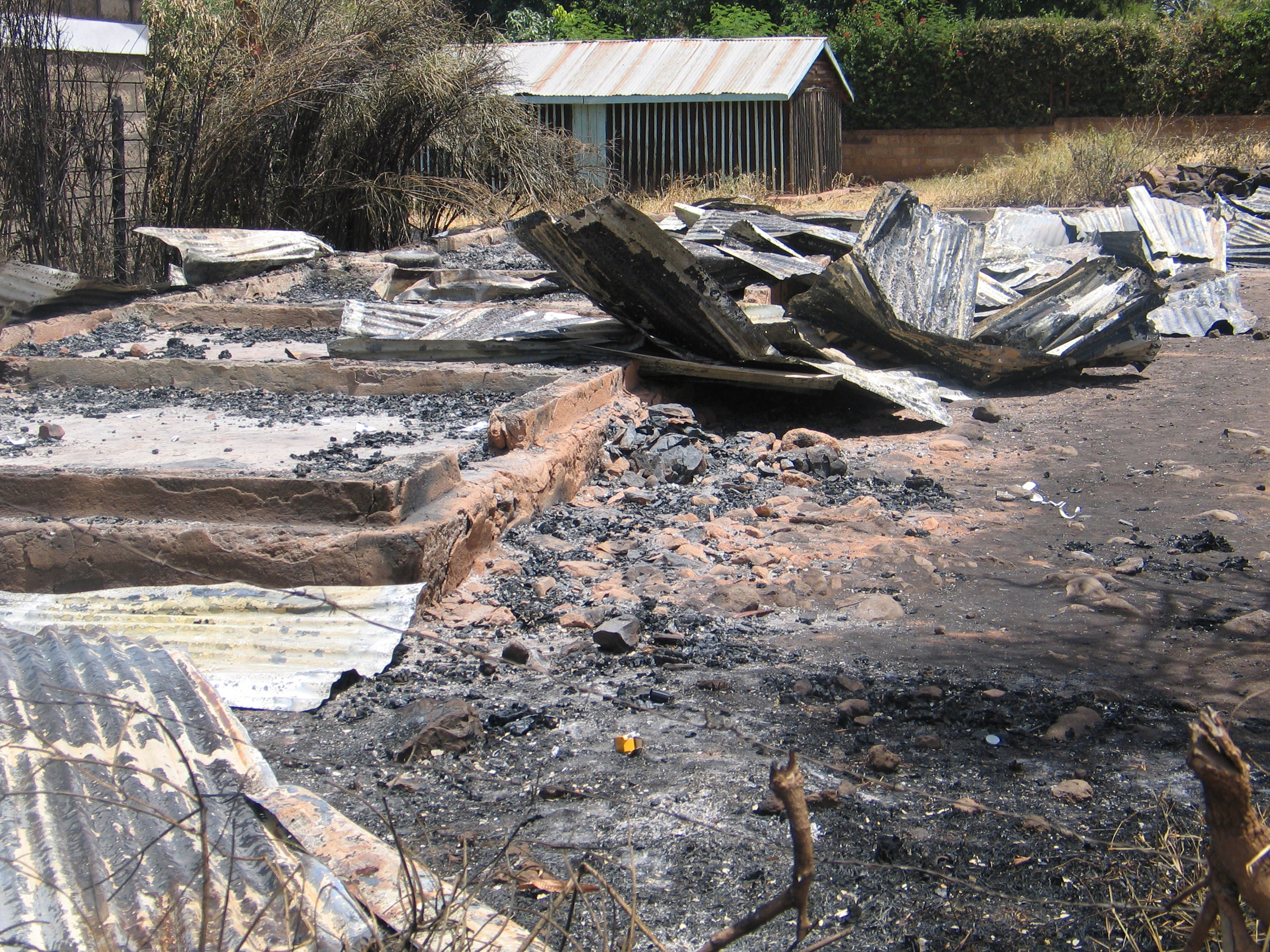 Burnt houses in Isiolo after inter-ethnic clashes