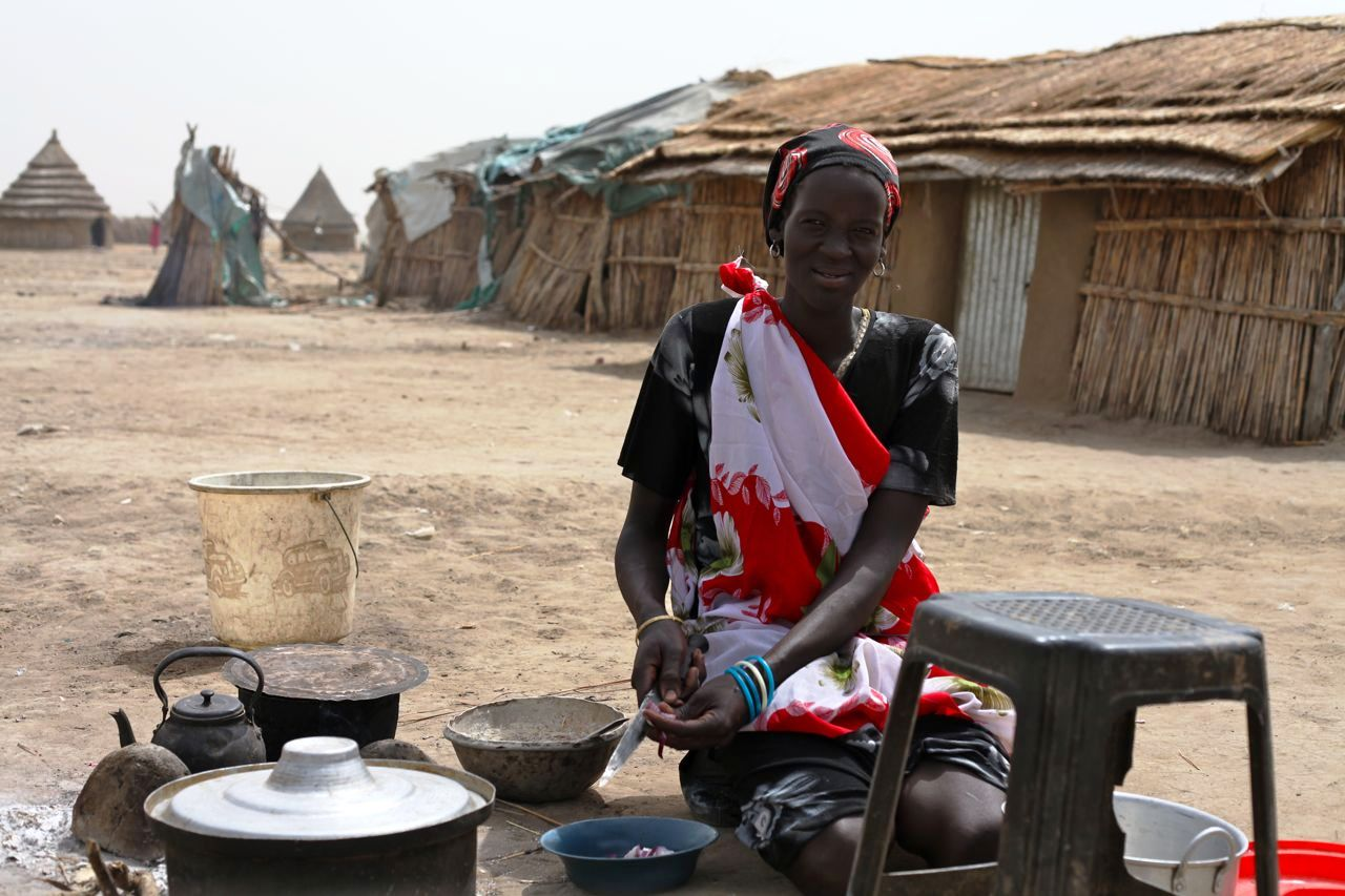 A woman in Akobo County, Jonglei State