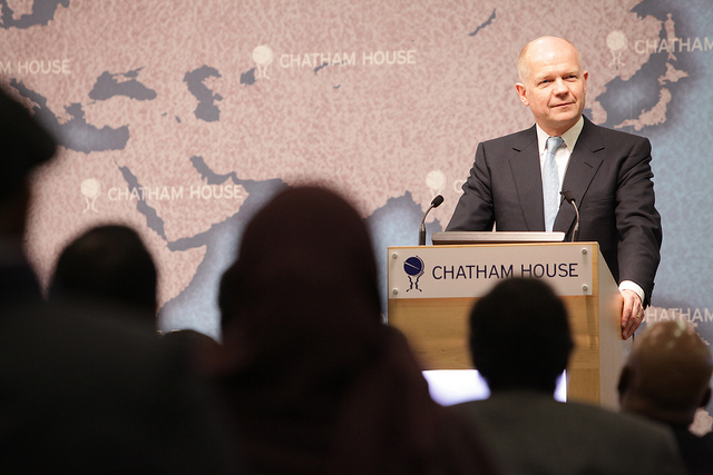 Foreign Secretary William Hague at the consultation on Somalia event at Chatham House, London, 8 February 2012