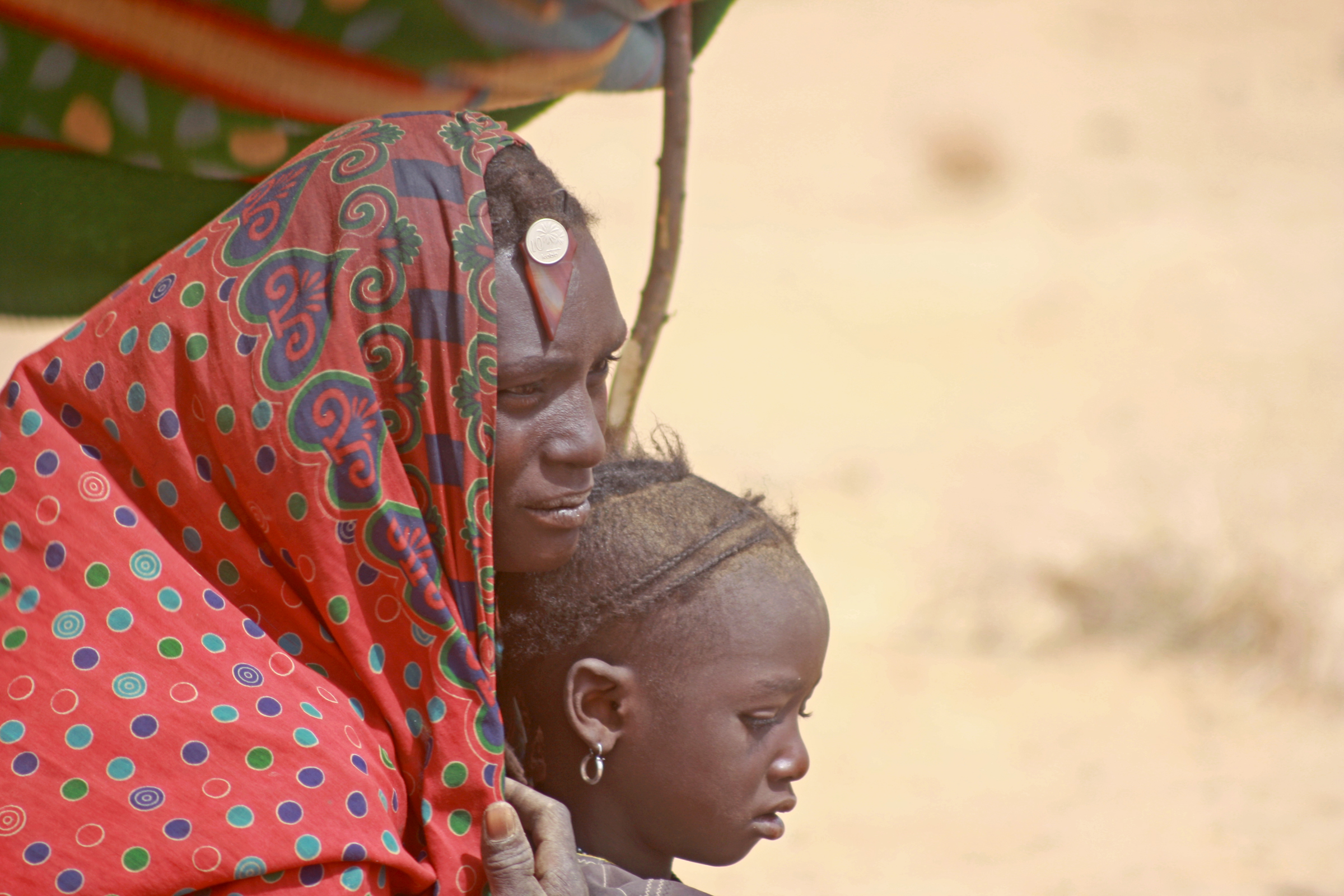 Malian refugees - mostly Tuaregs - in the village of Gaoudel, near the town of Ayourou in Niger