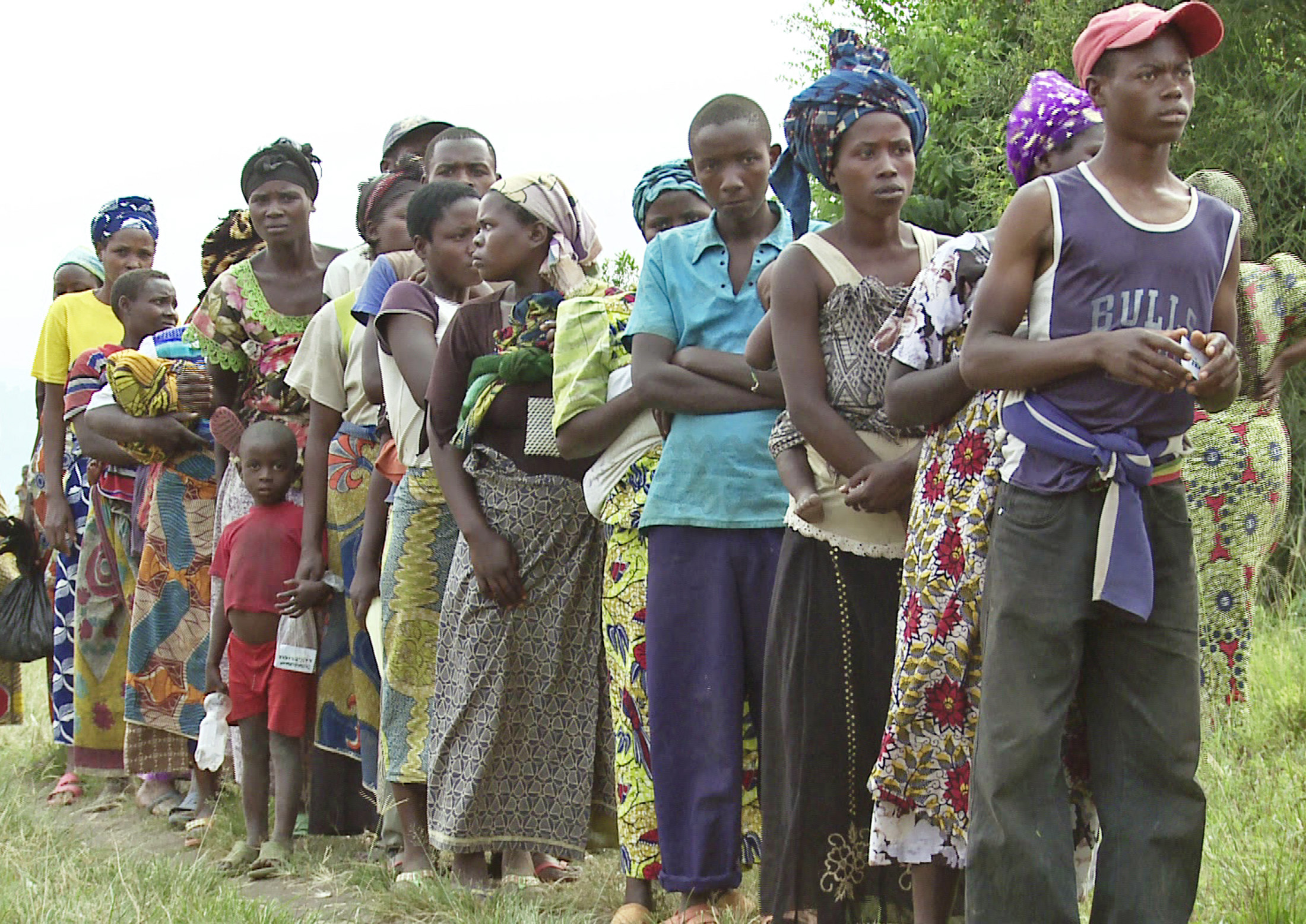Congolese refugees in Nteko reception centre in the southwestern district of Kisoro district, Uganda