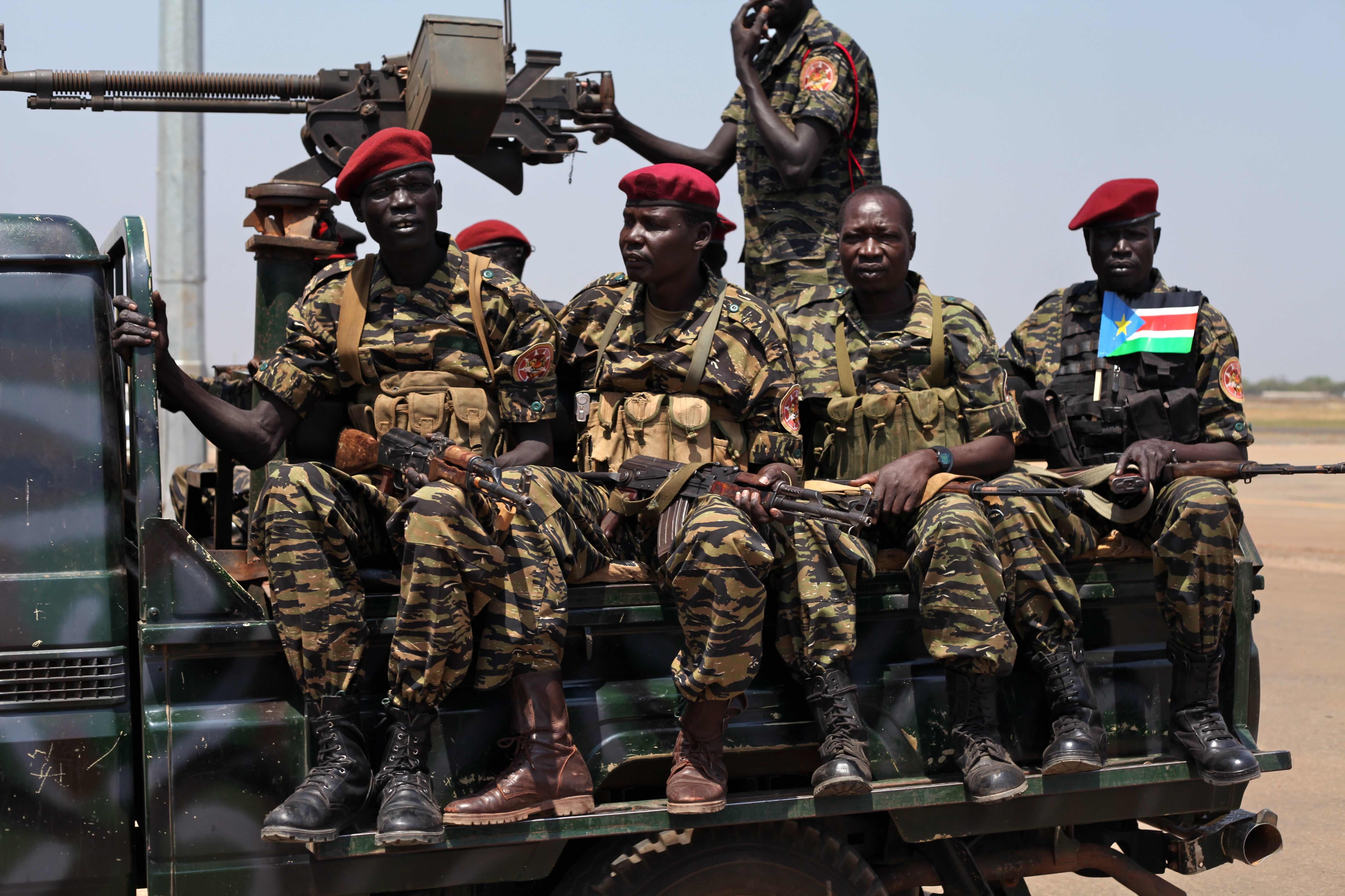 SPLA troops in South Sudan