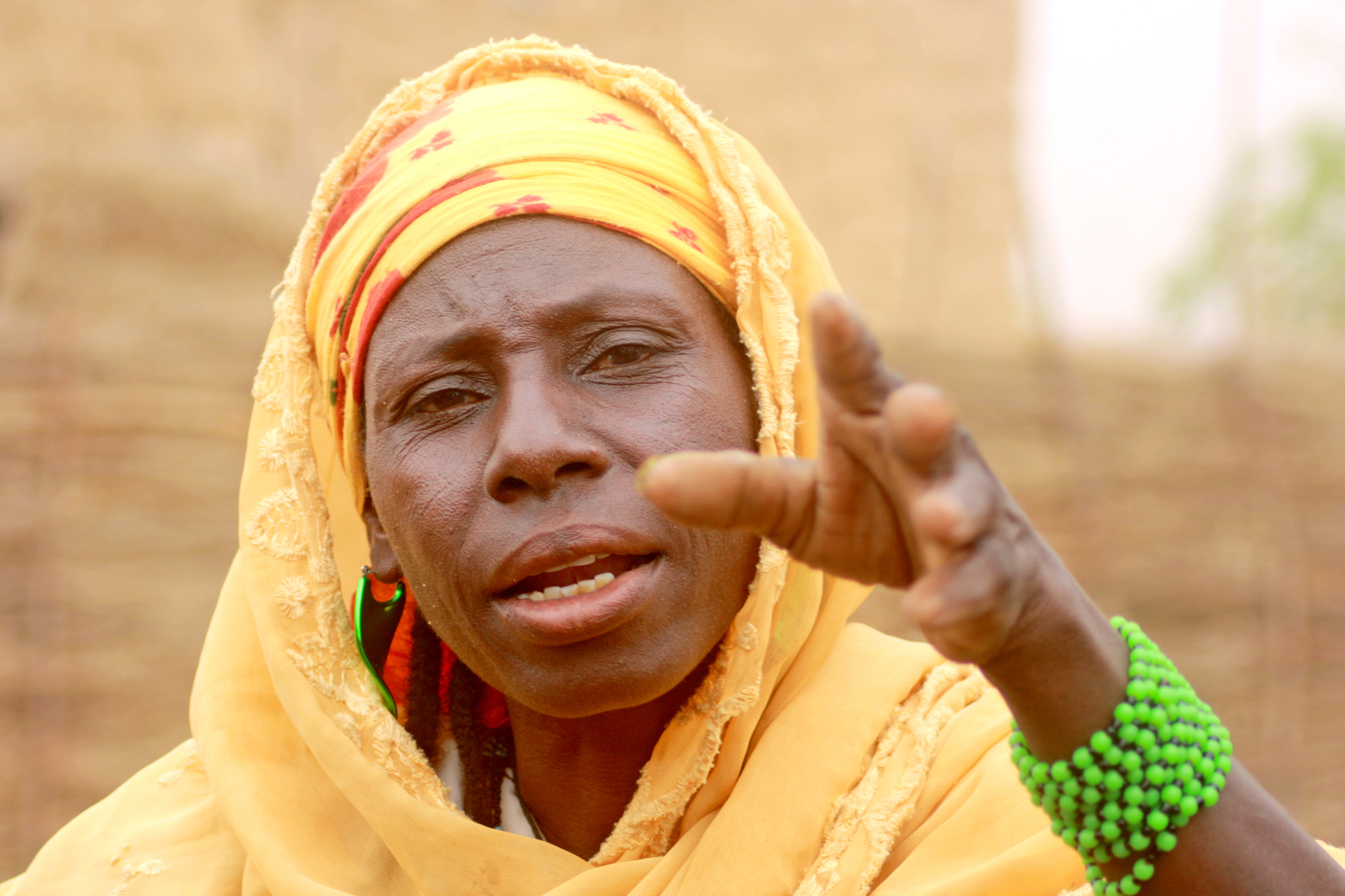 Hani Issa from Talkadabey village in Oullam district in Niger's Tillaberi region has been battling to feed her family after the men left to look for work elsewhere