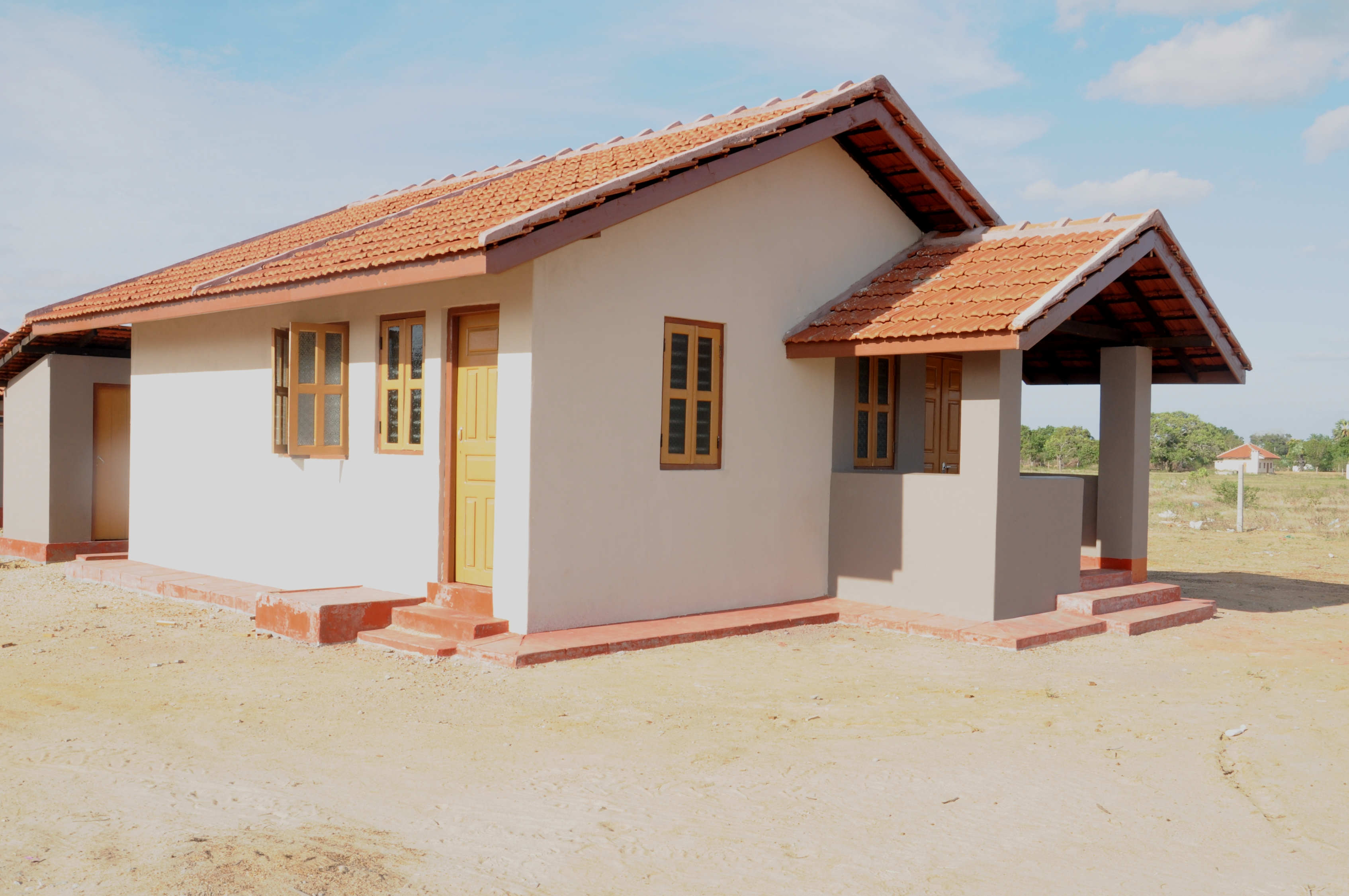 New Indian government subdidized housing in Ariviyal Nagar, Kilinochchi District