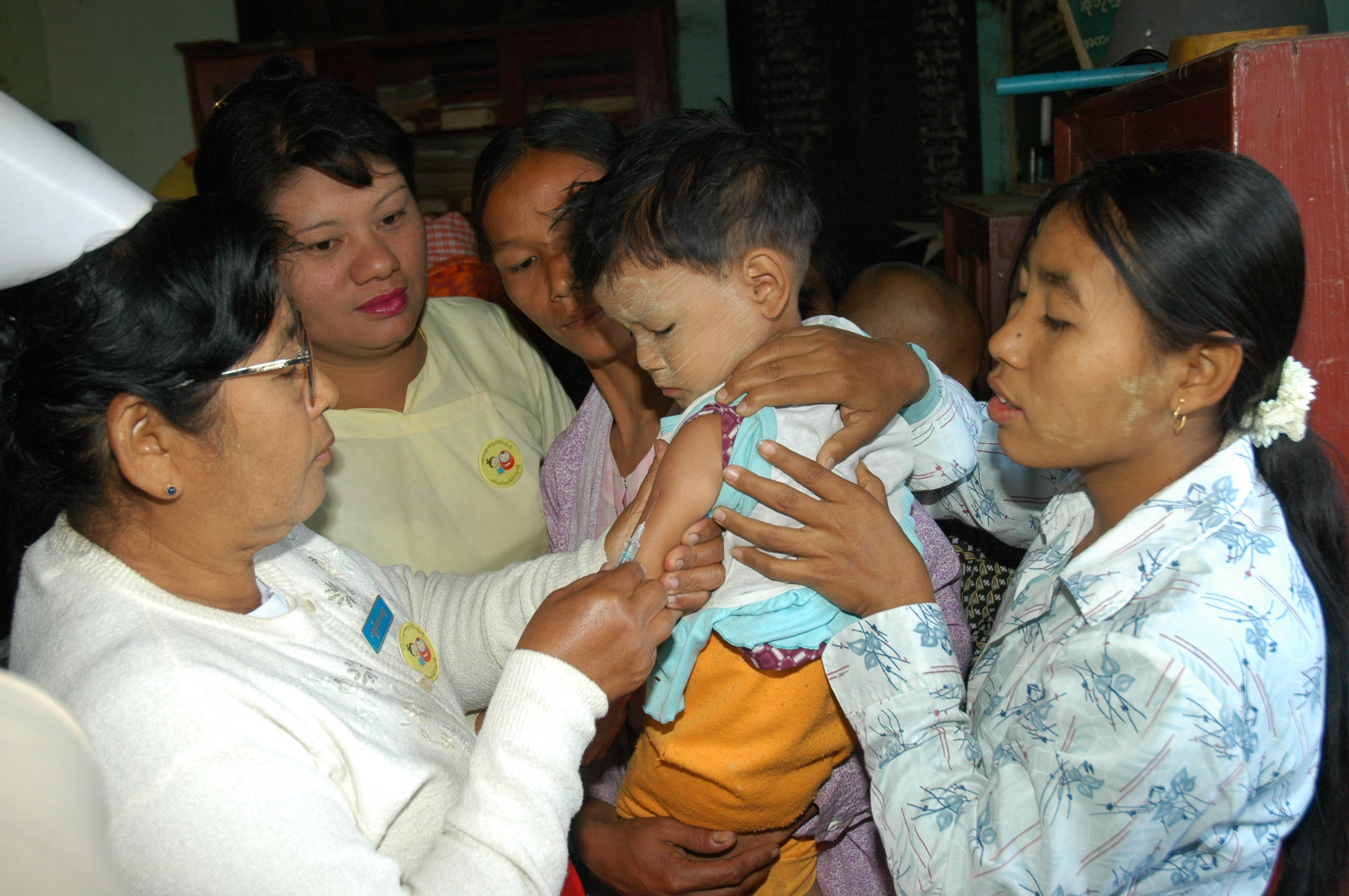 Some 6.4 million children will be vaccinated against measles across Myanmar starting on 22 March 2012