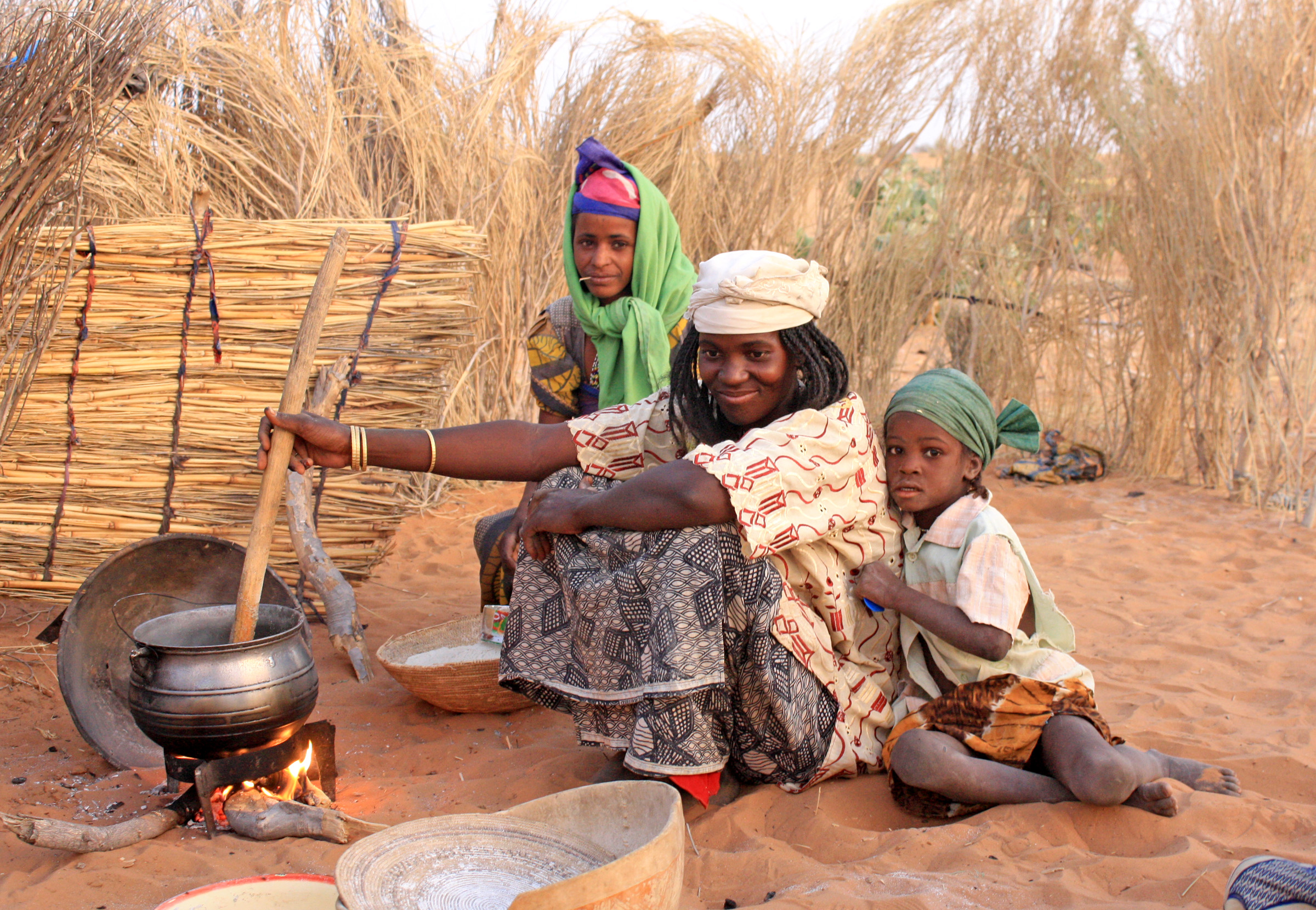 A family in Diffa region in southeastern Niger (March 2012)