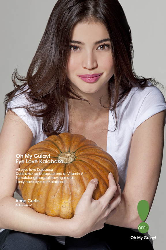 Celebrities like Anne Curtis in the Philippines are participating in a nationwide campaign to boost produce consumption in a country where consumption of vegetables and fruits is among the lowest in Asia and contributes to stubborn rates of chronic malnut