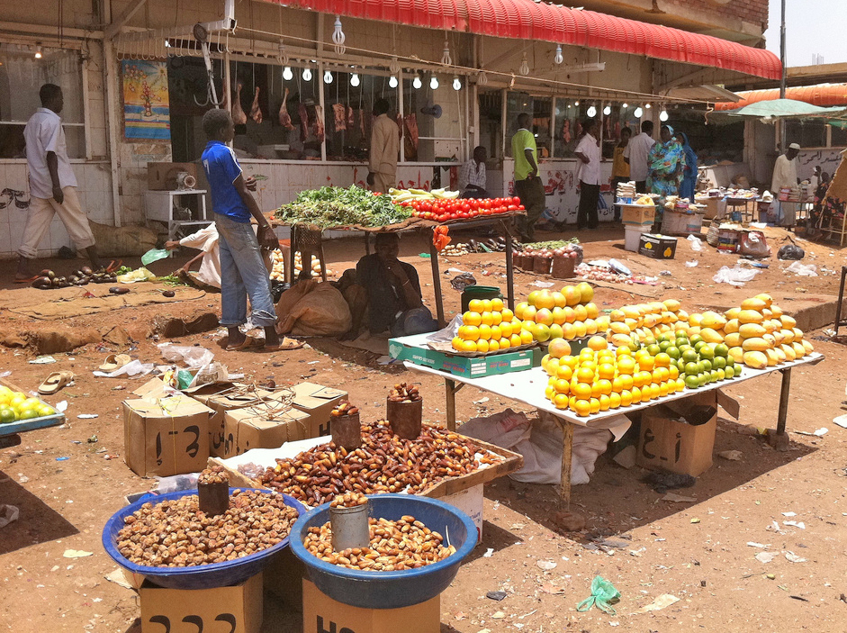 Vegetable market in Khartoum, Sudan