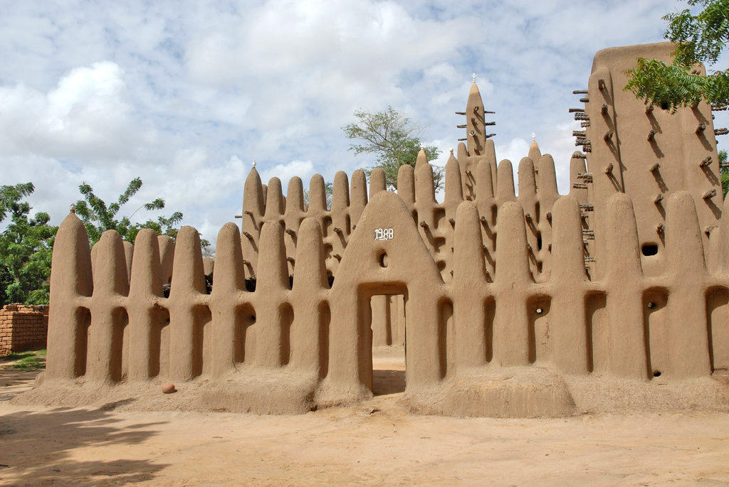 Mosque at the Bandiagara Escarpment, Mali, West Africa