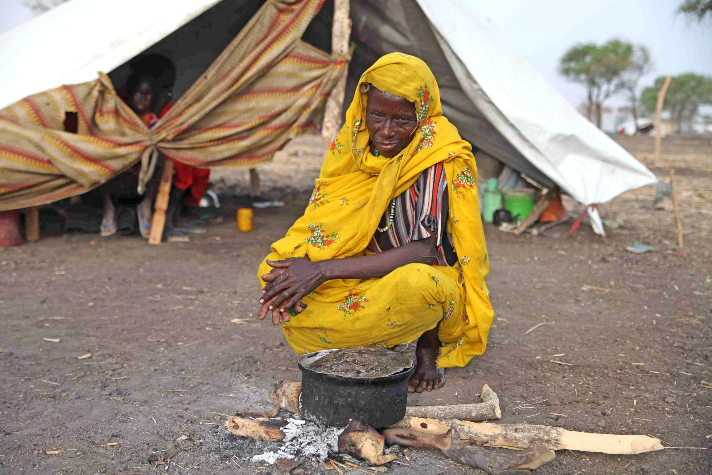 Refugee at Jamam camp, South Sudan