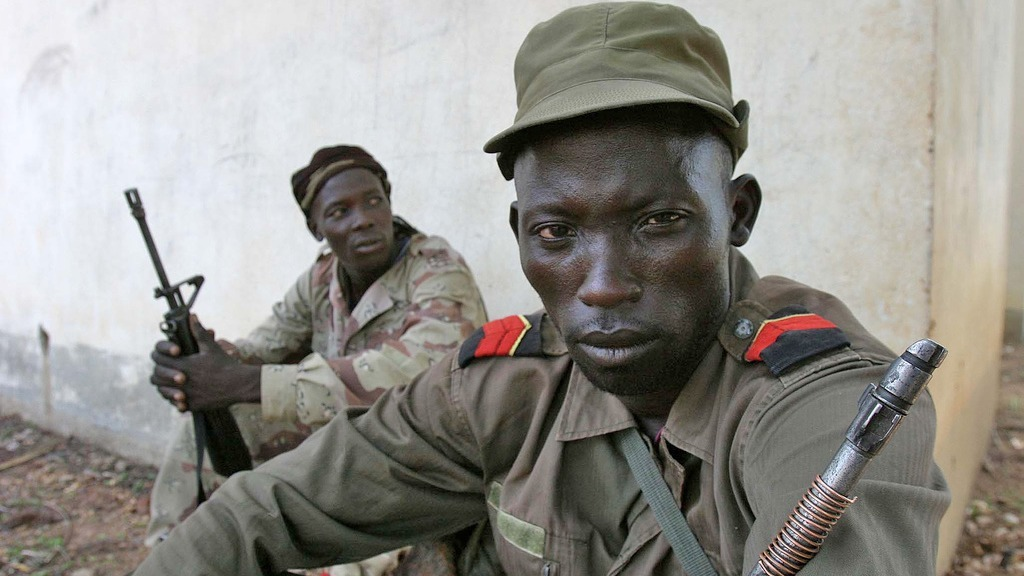 Rebel camp in the north-eastern Central African Republic