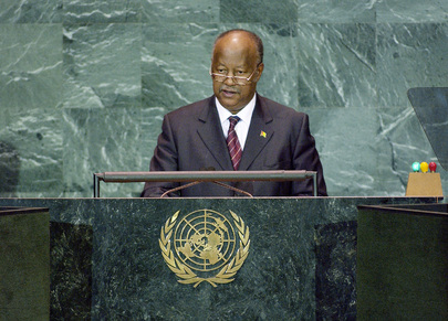Carlos Gomes, Jr., Prime Minister of the Republic of Guinea-Bissau, addresses the general debate of the sixtieth session of the General Assembly, today at UN Headquarters. The general debate focuses on the follow-up to the 2005 World Summit