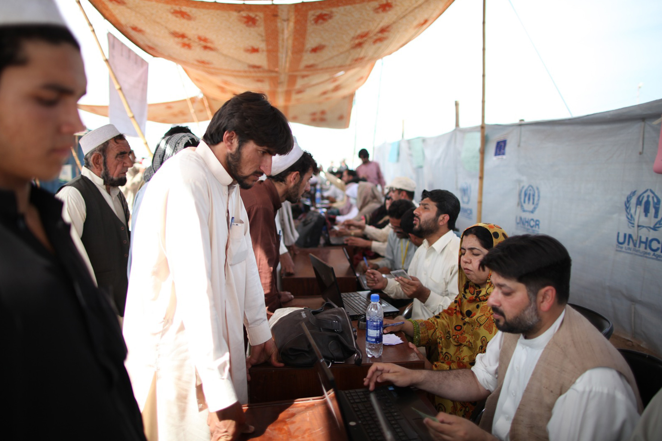 Only a small pecentage of IDPs who register at Jalozai choose to live at the camp