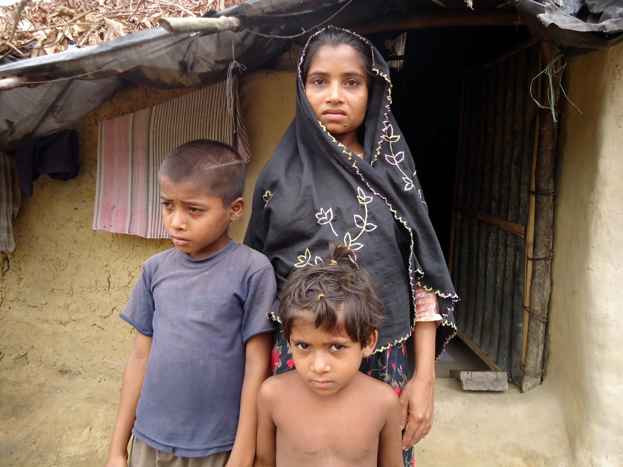 Jaheda Begum, an undocumented Rohingya refugee at the Kutupalong makeshift camp outside Cox's Bazar District, is struggling to feed her family. There are more than 200,000 undocumented Rohingya refugees in southern Bangladesh