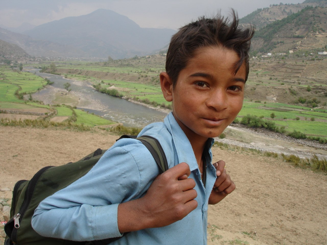 A young boy walks to school in Jumla, a remote mountain district in western Nepal. Access to education in Nepal's remote mountainous regions remains a challenge