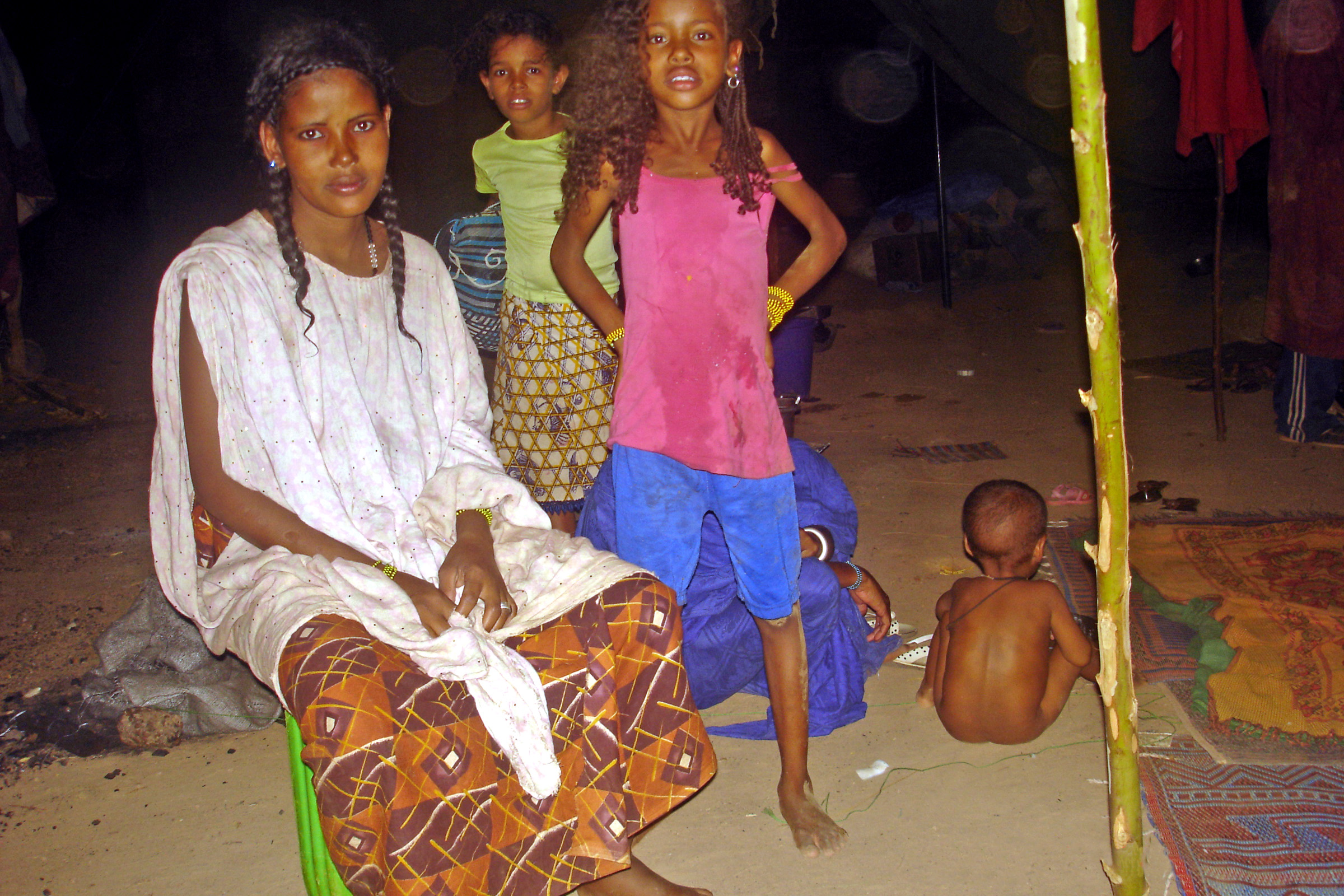 Malian refugees at Somgande refugee camp just outside of the capital Ouagadougou. Tuareg and Arab families have fled conflict in Mali as MNLA and Ansar Dine rebel groups took control of the regions of Kidal, Timbuktu and Gao
