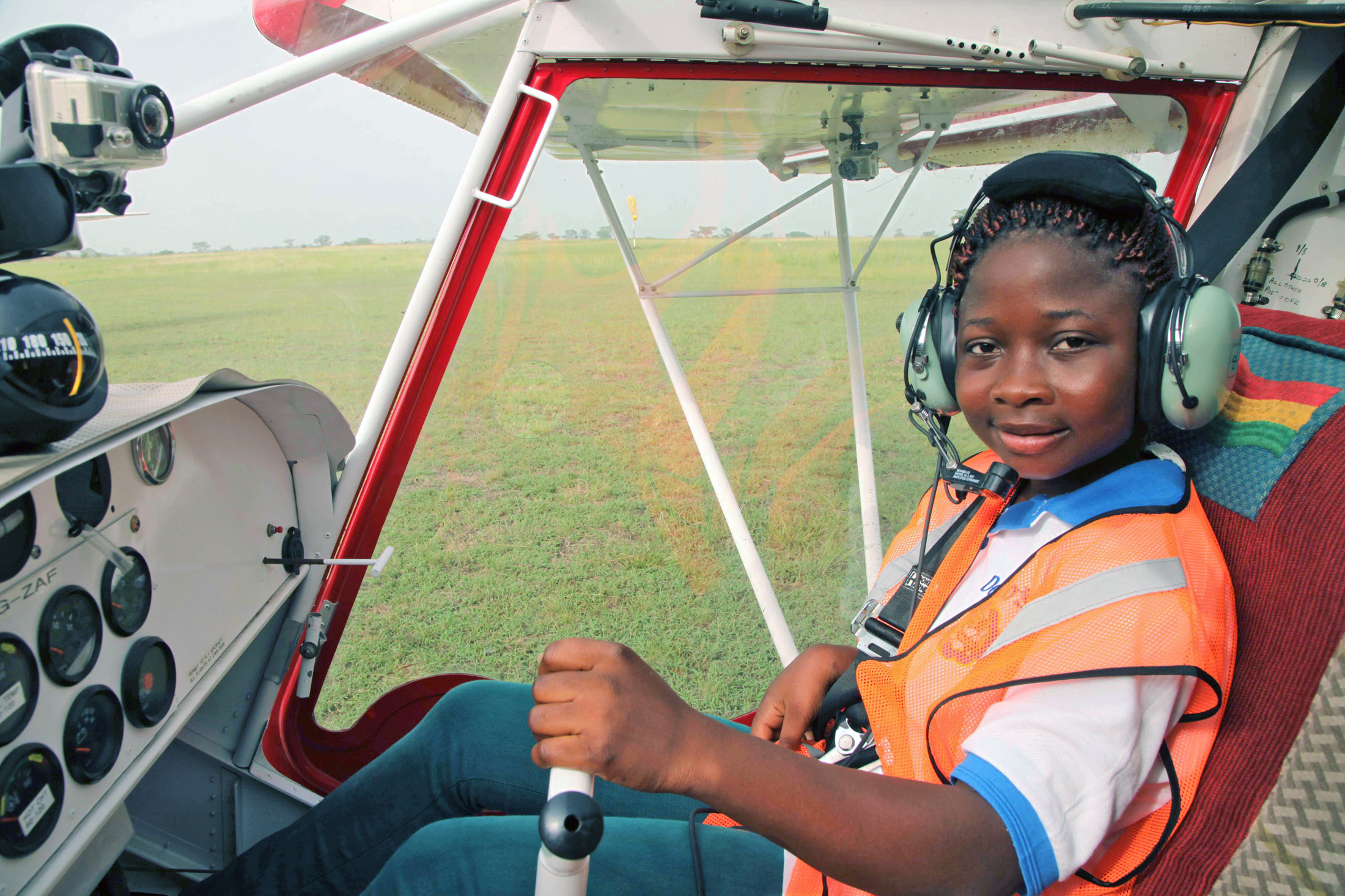 Lydia Wetsi is a trainee at NGO Medicine on the Move in Ghana. The NGO trains community health workers to fly planes so they can share health messages and provide health care to remote communities living around Lake Volta in the north