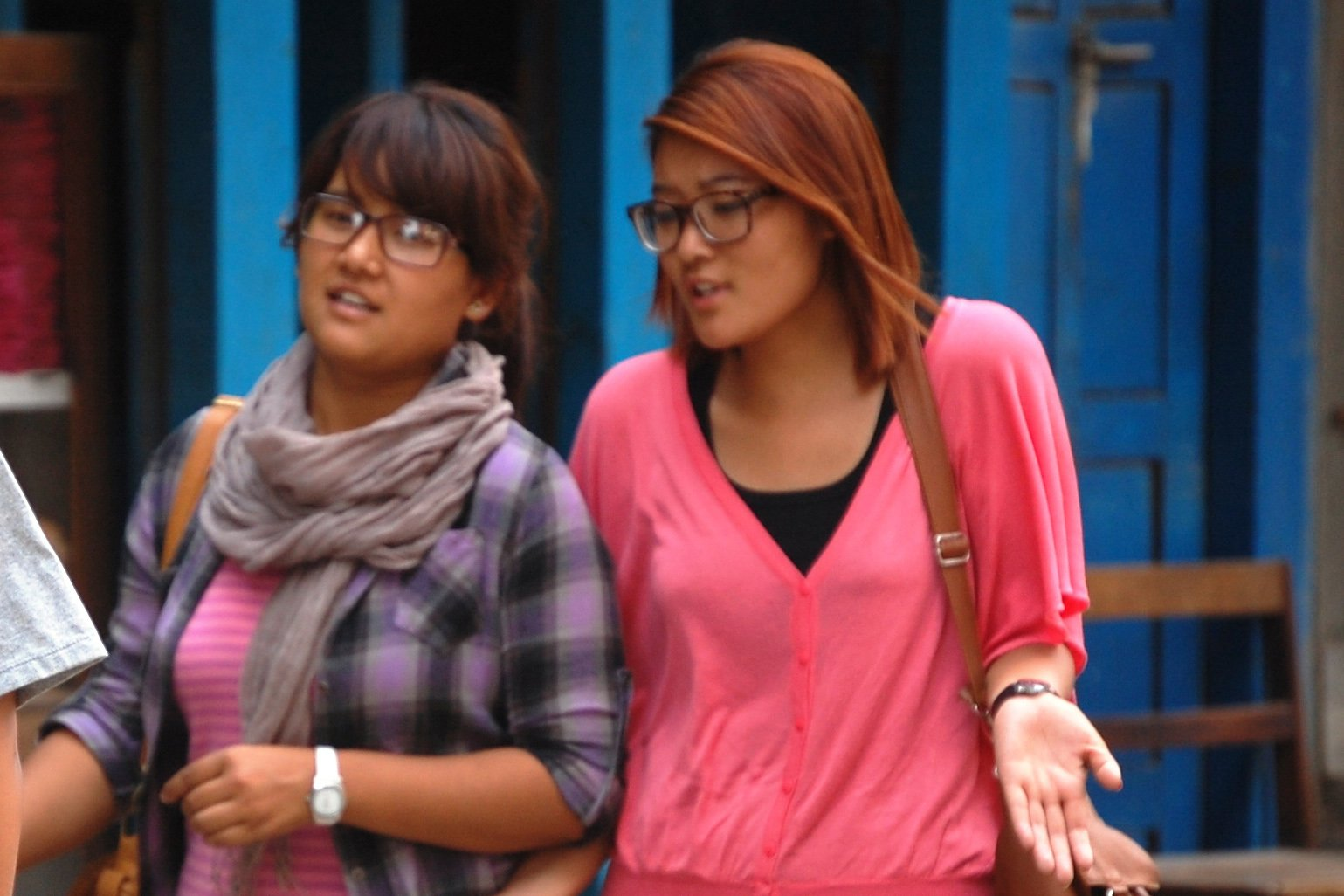 Two young women walking in the capital Kathmandu. Sexual harassment is becoming a growing problem in Nepal's larger urban areas