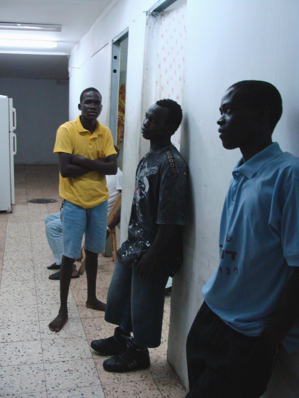 Unaccompanied minors from South Sudan at a refugee shelter in Tel Aviv