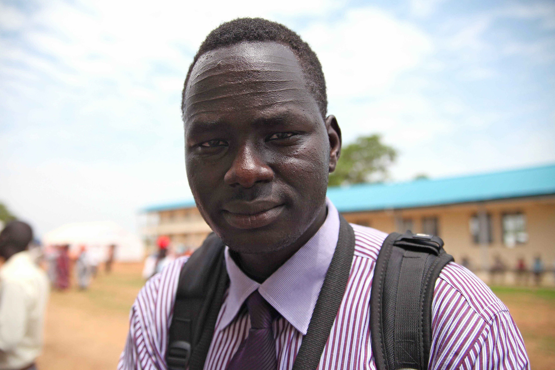 Bol Duop at a transit site for returnees to South Sudan on the outskirts of the capital Juba